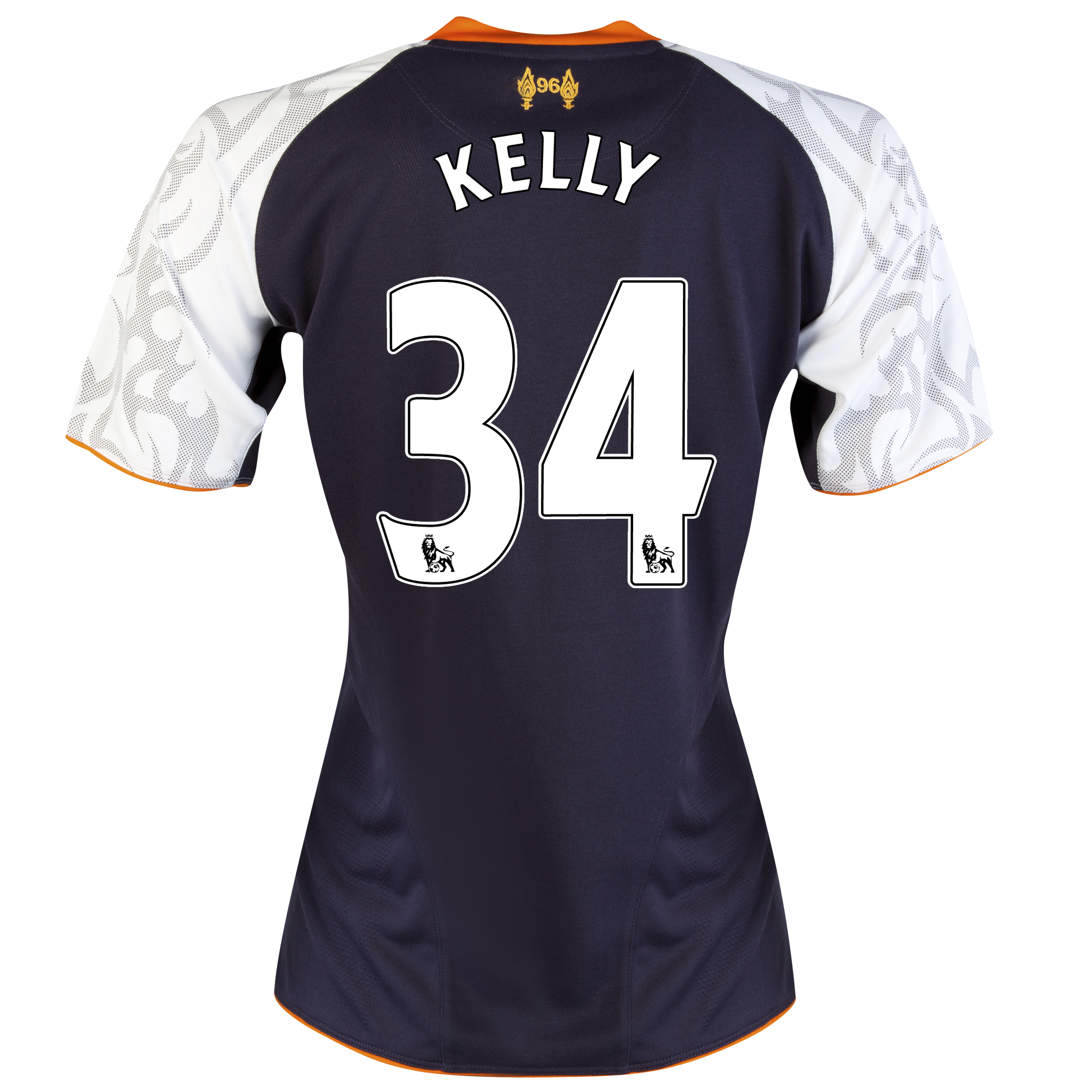 Liverpool Third Shirt 2012/13 - Womens with Kelly 34 printing