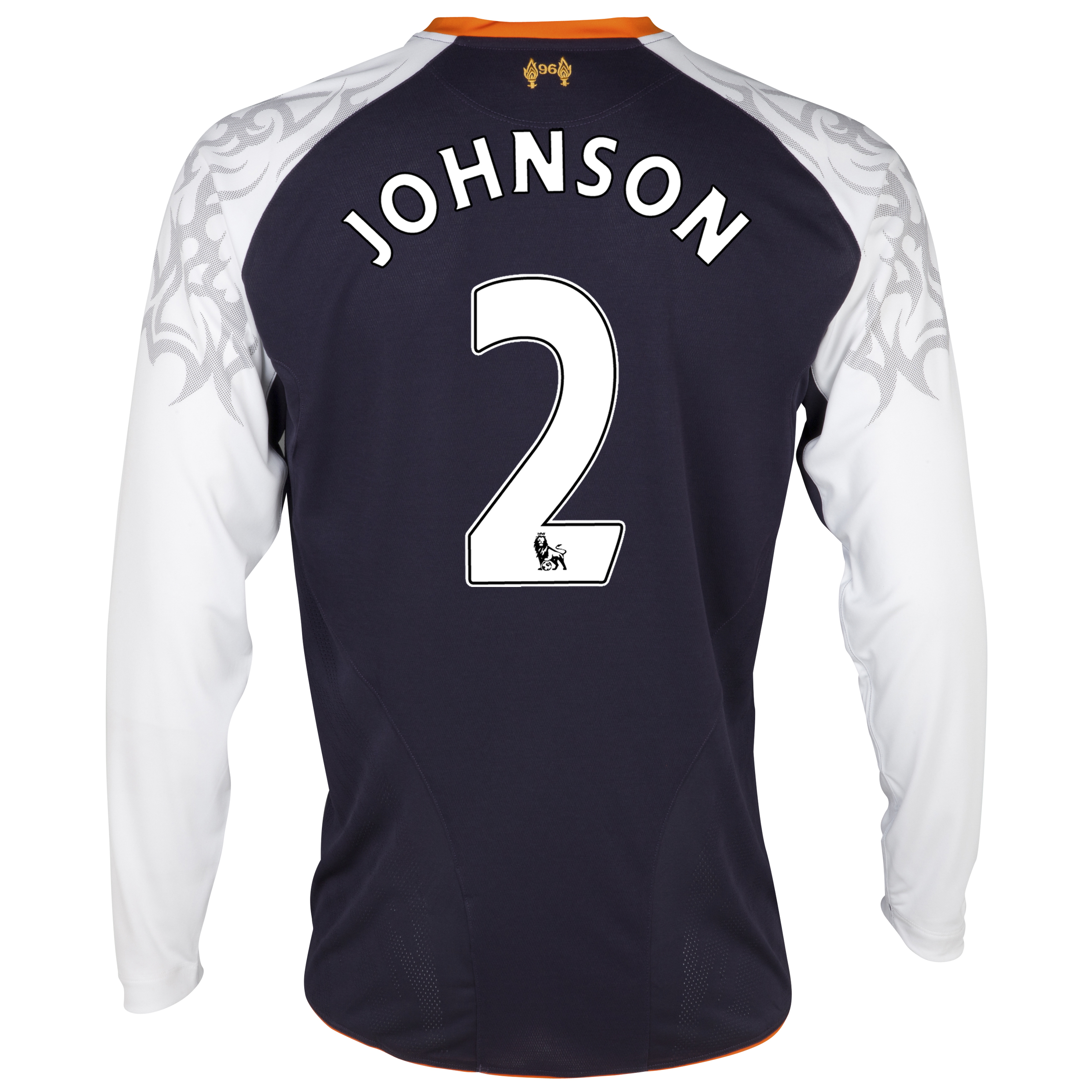 Liverpool Third Shirt 2012/13 - Long Sleeve - Youths with Johnson 2 printing