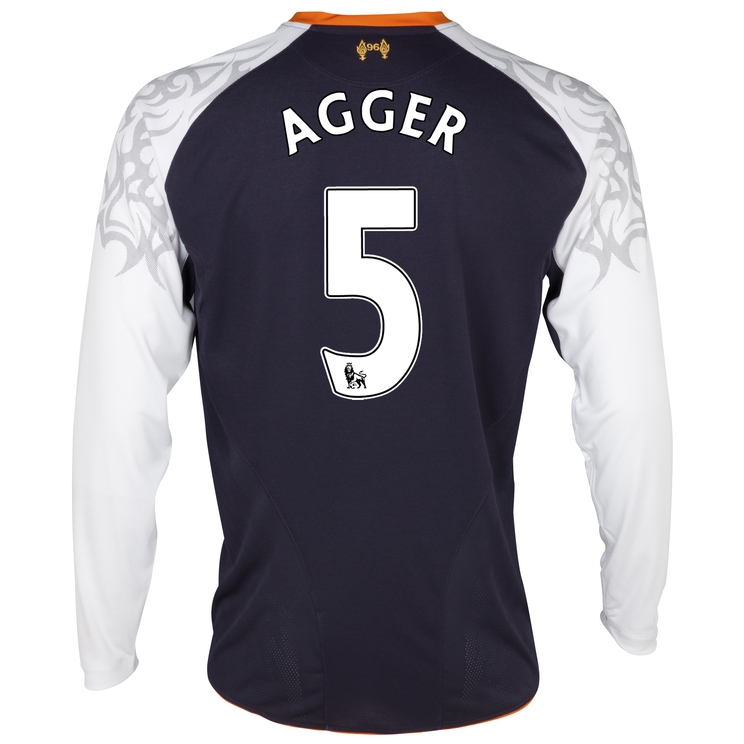 Liverpool Third Shirt 2012/13 - Long Sleeve - Youths with Agger 5 printing