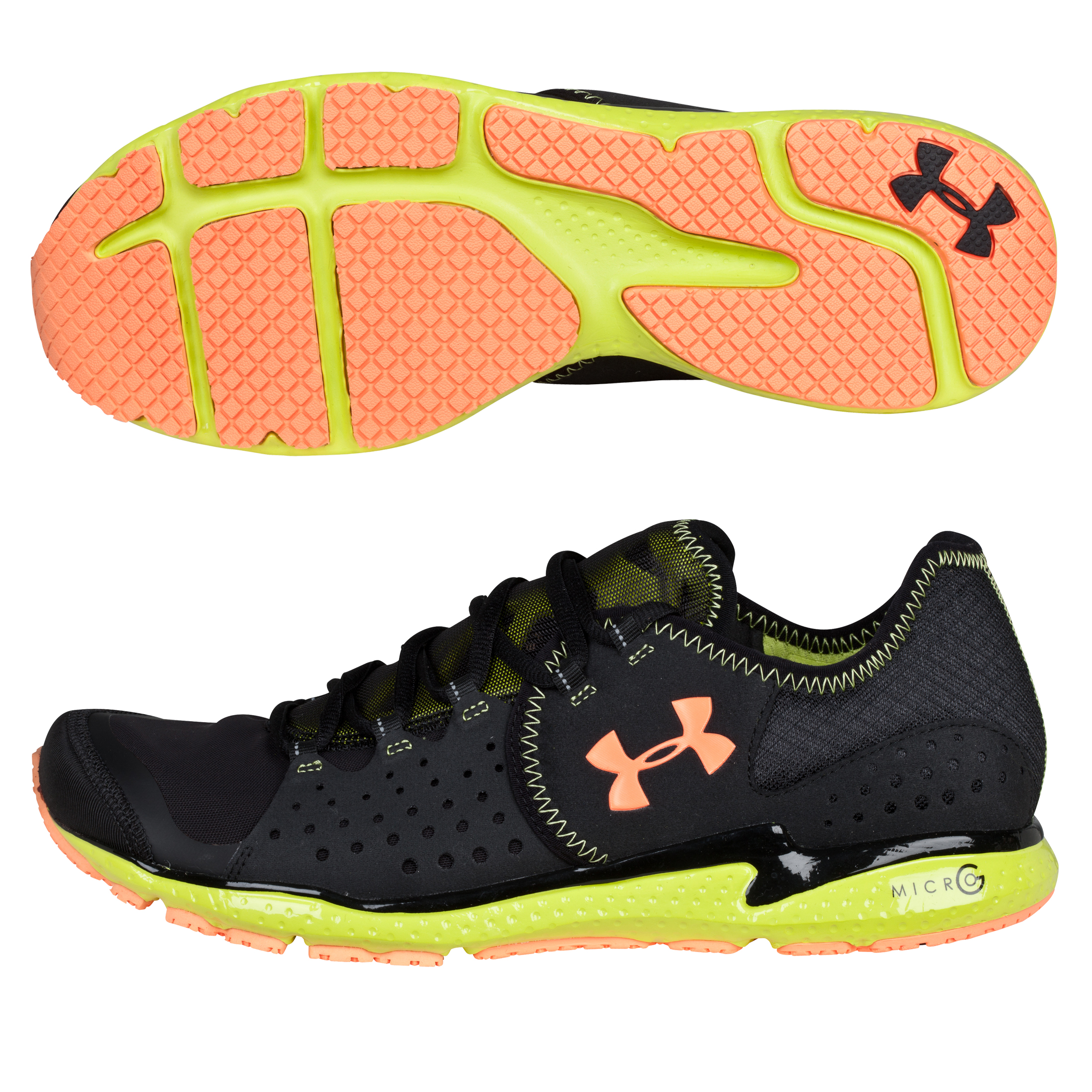Under Armour Micro G Mantis Trainer - Black/Bitter Lime/Orange