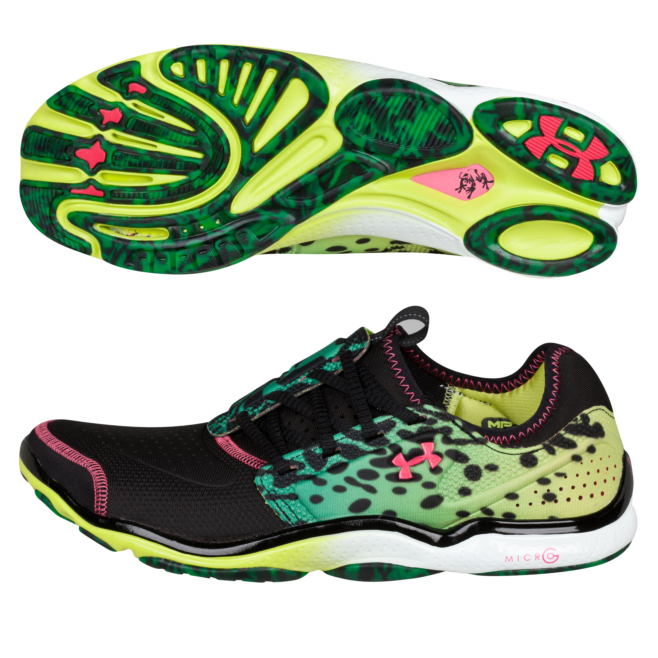Under Armour Poison Dart  Trainer- Black/Bitter Lime