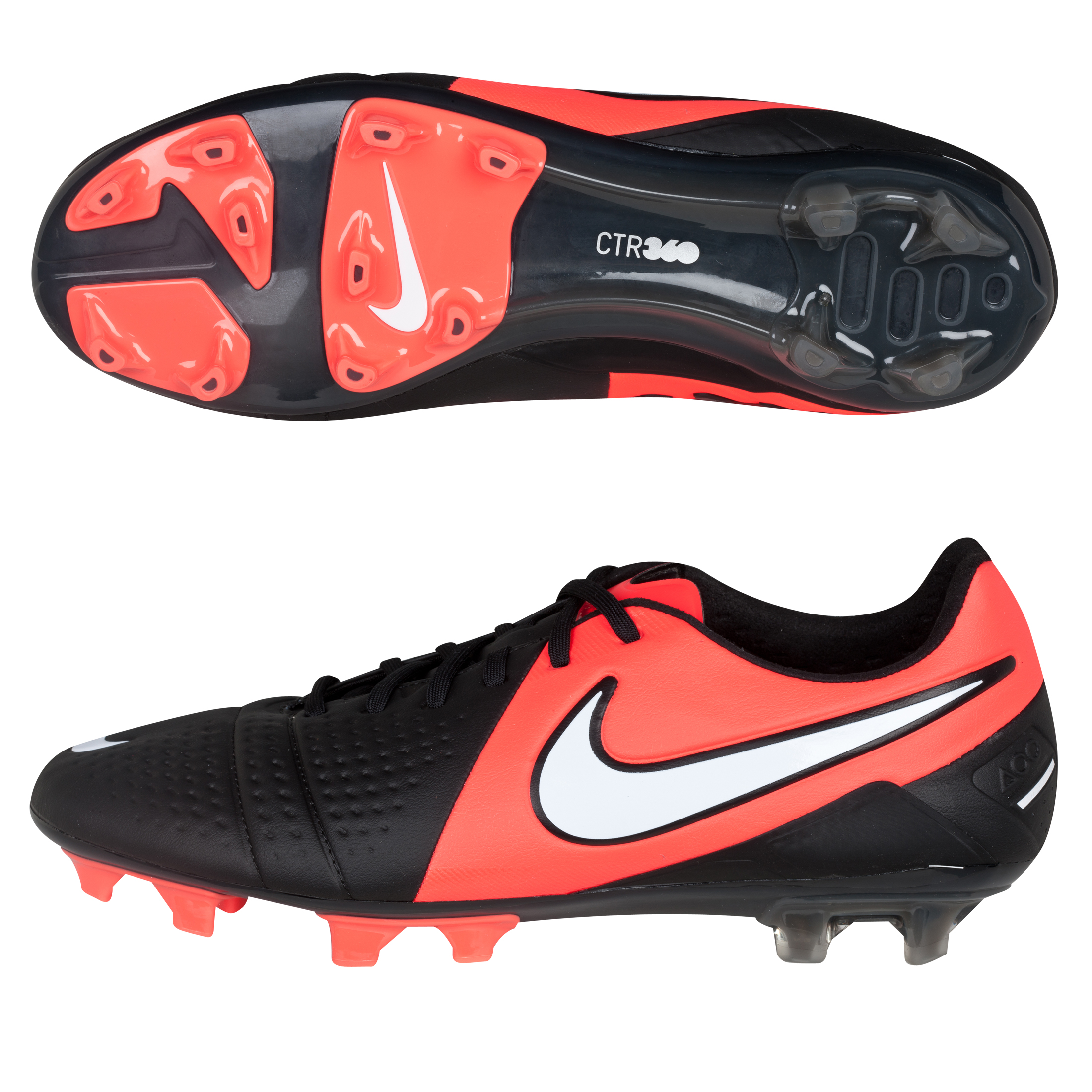 Nike CTR360 Maestri III Firm Ground Football Boots - Black/White/Bright Crimson