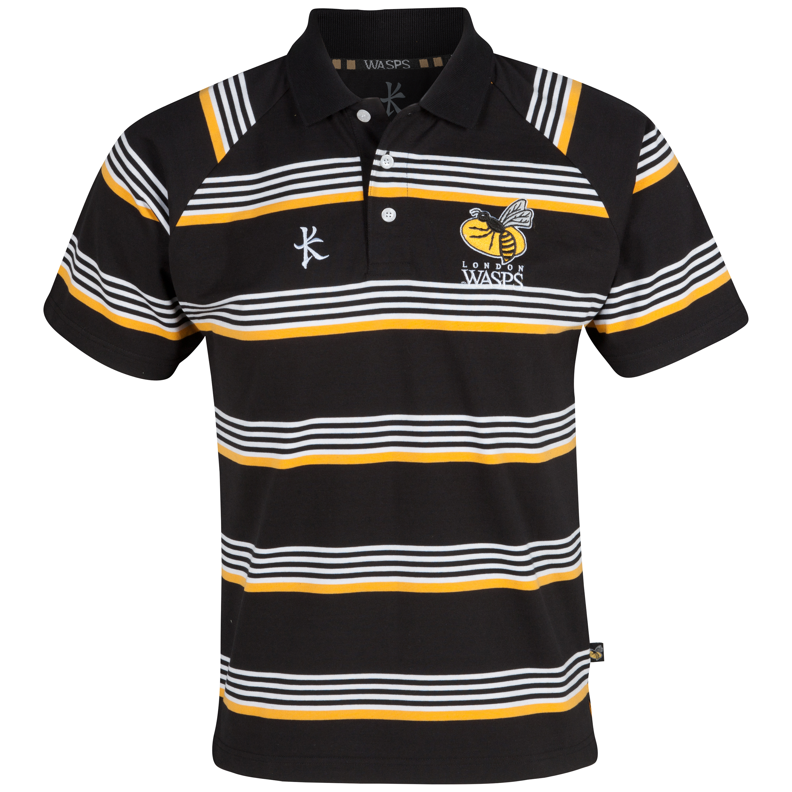 Wasps Knitted Polo - Black/White
