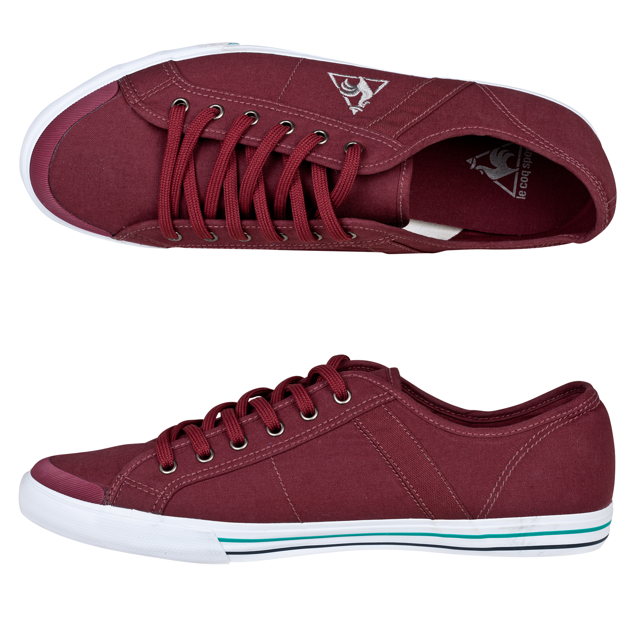 Le Coq Sportif Saint Malo Plimsols - Red Retro Bordeaux