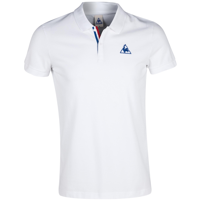 Le Coq Sportif Aspot Polo - White/Olympian Blue