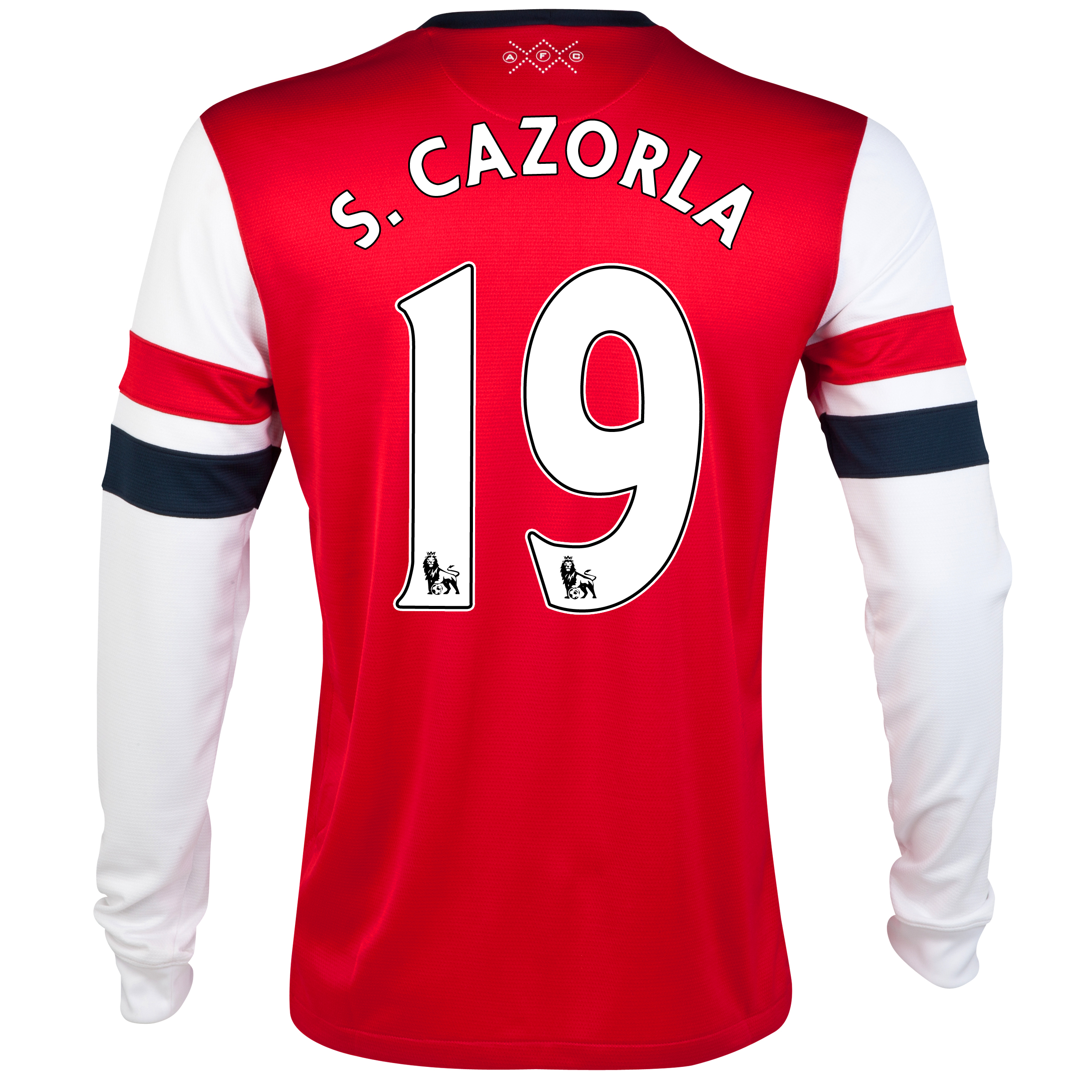 Arsenal Home Shirt 2012/14  - Long Sleeved - Kids with S.Cazorla 19 printing