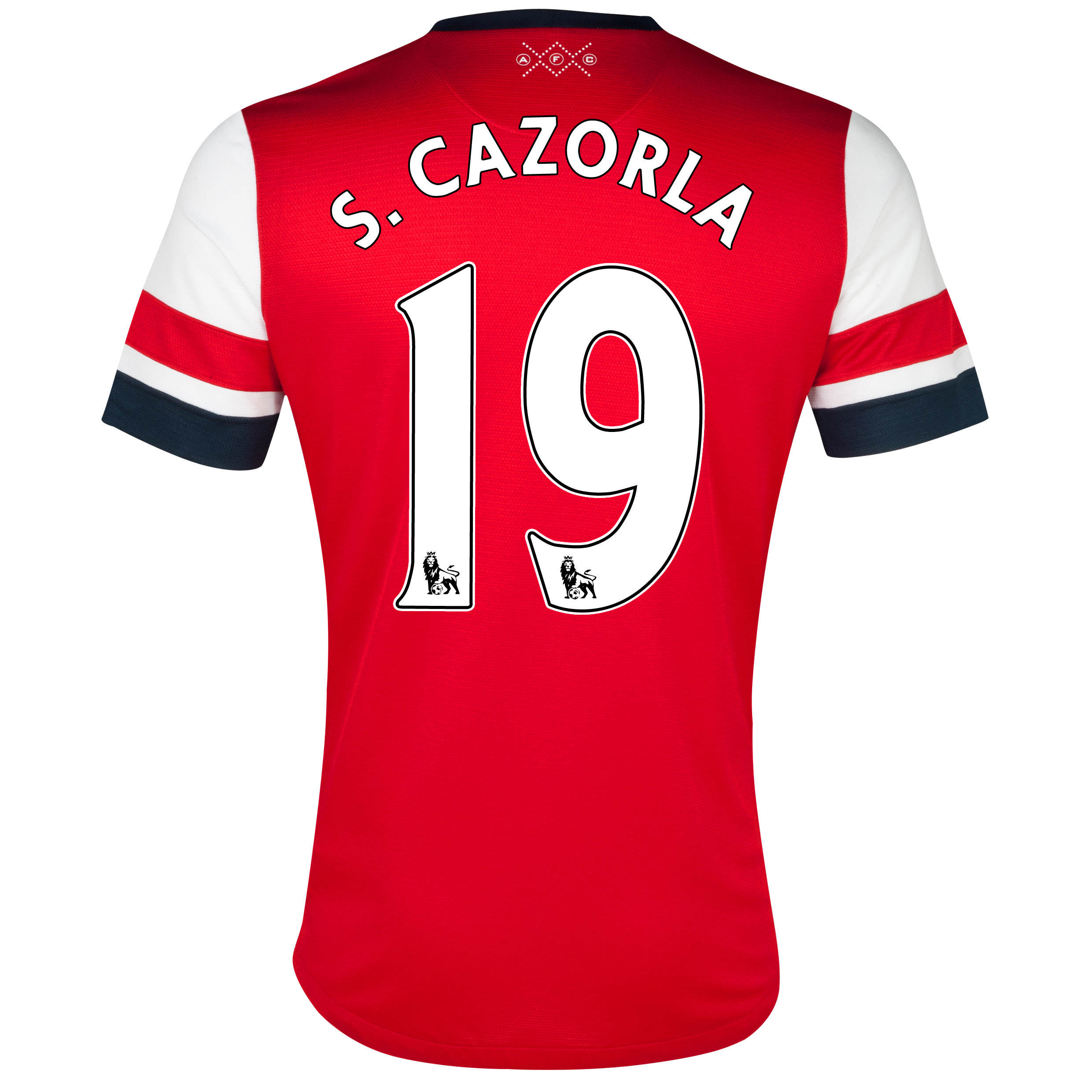 Arsenal  Home Shirt  2012/13 - Womens with S.Cazorla 19 printing