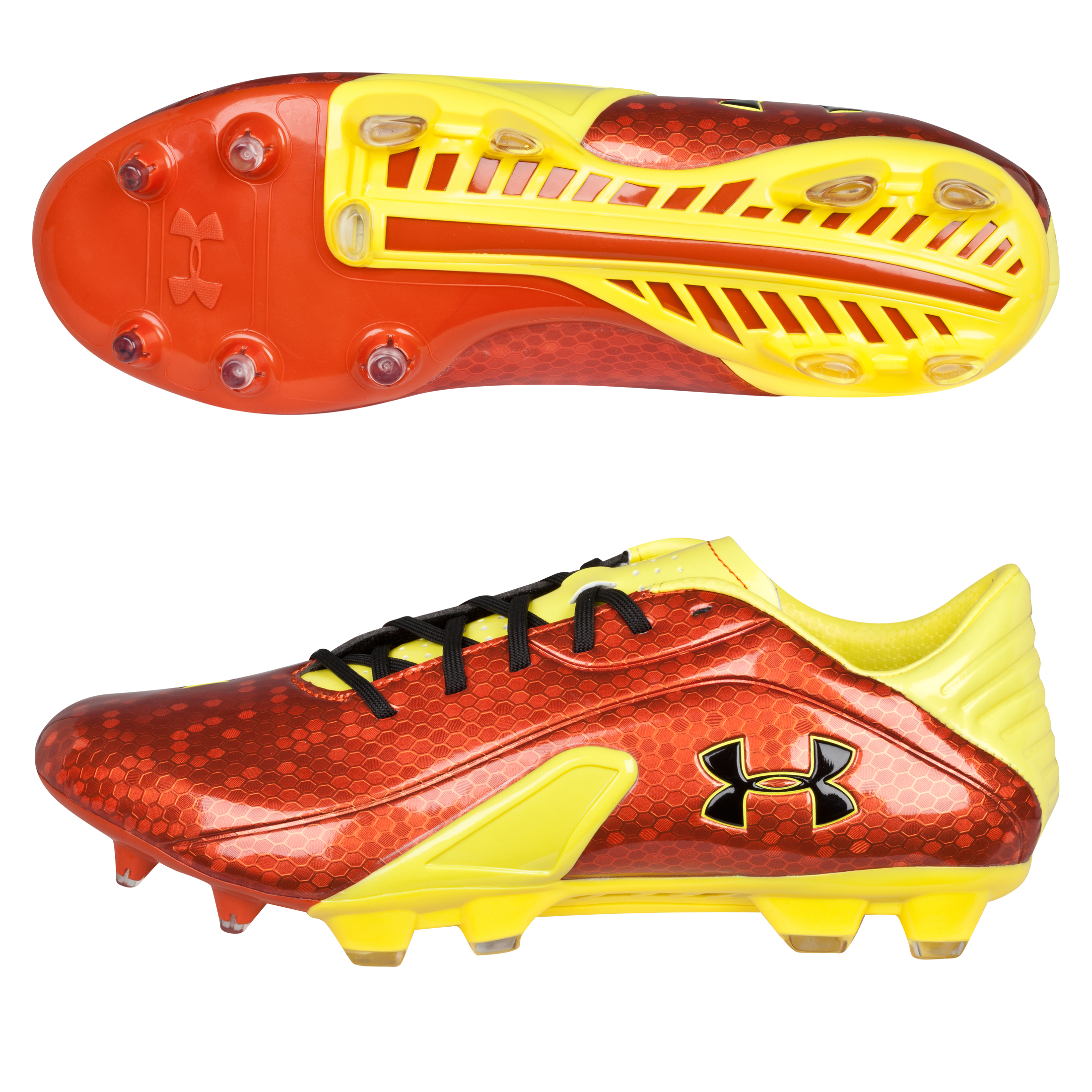 Under Armour Spine Blur Firm Ground Football Boots - Vivid/Sun Bleached/Black