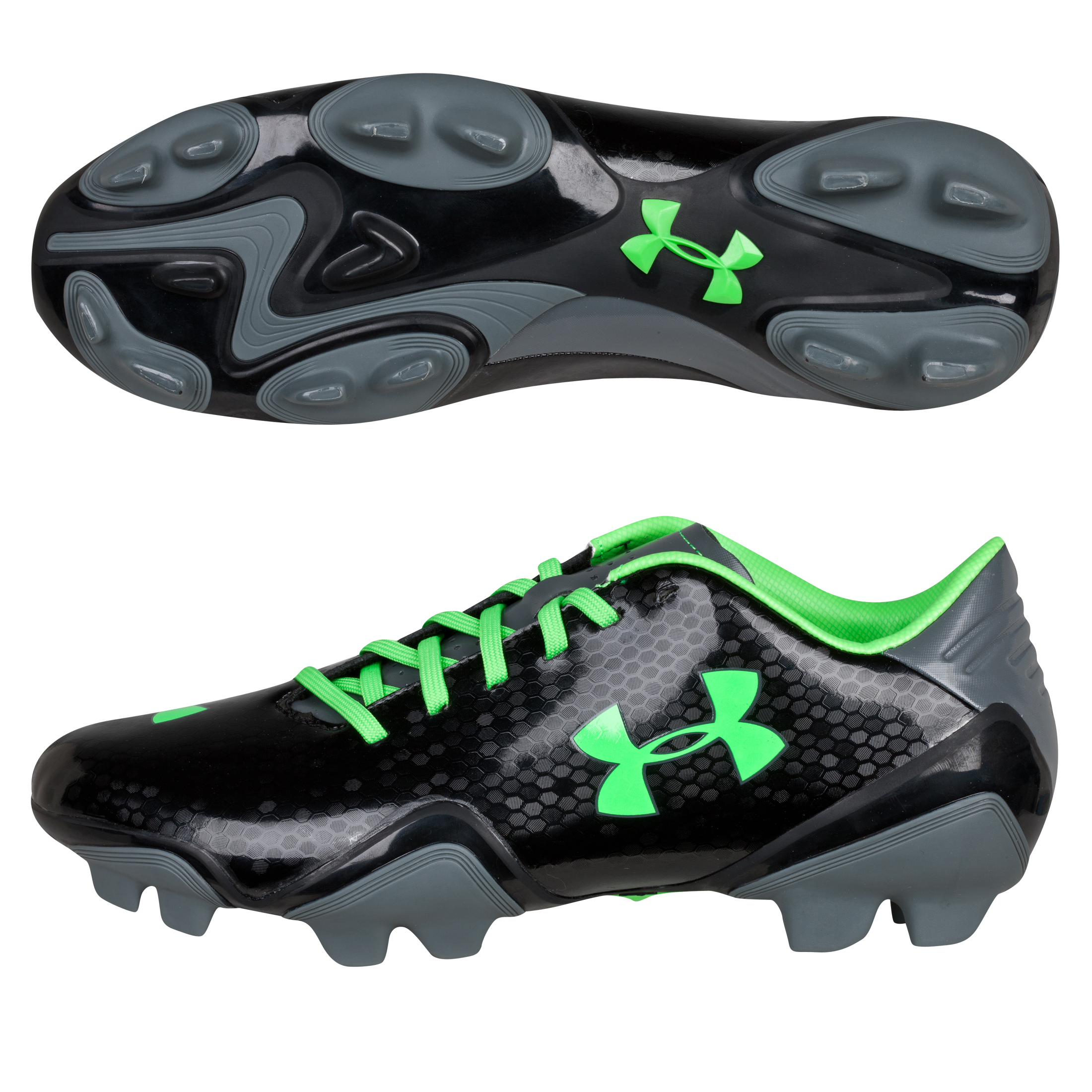 Under Armour Blur Flash FG Black/Poison/Metallic Silver