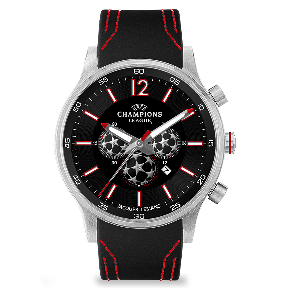 UEFA Champions League Watch - Black/Red