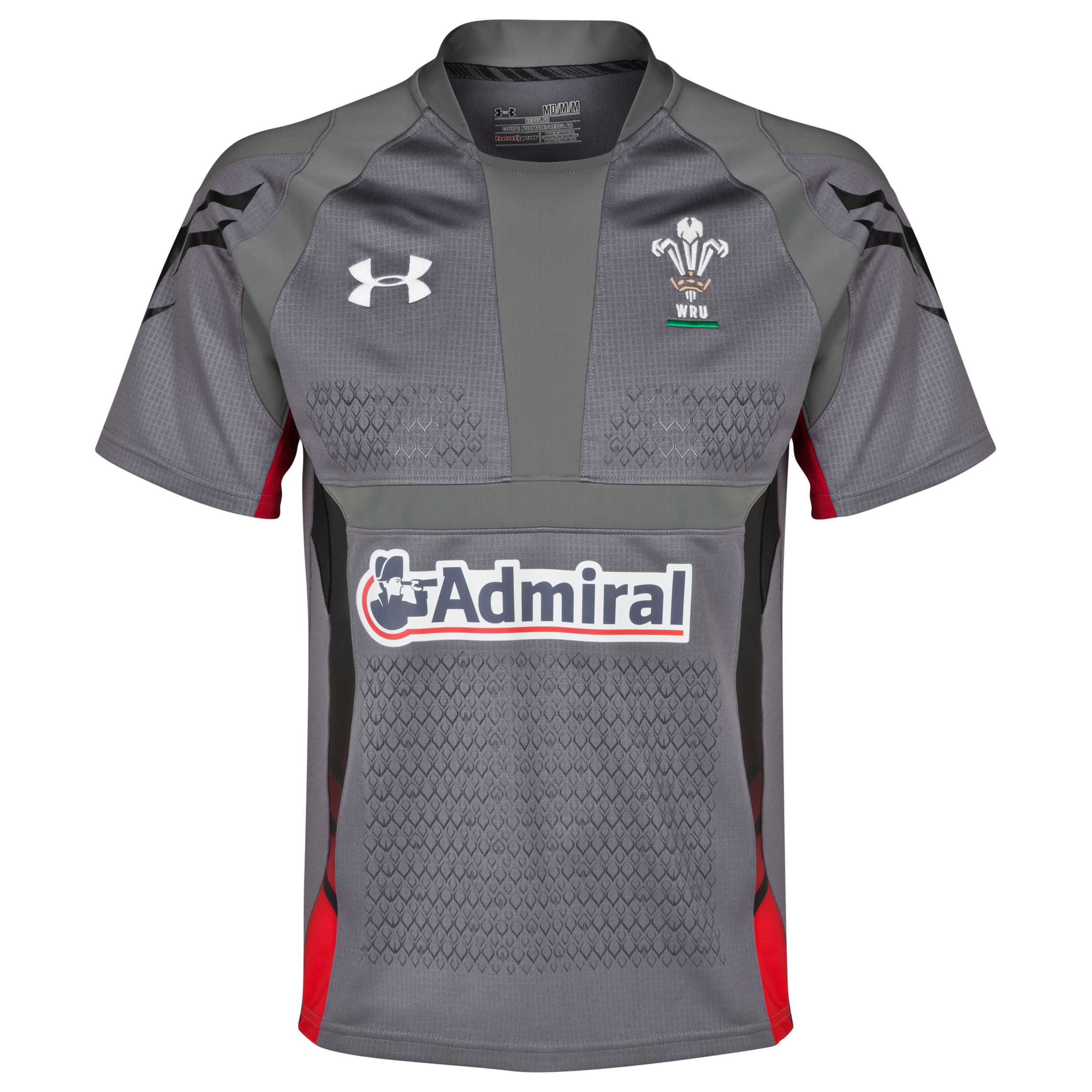 Wales Rugby Union Away Shirt 2013/15 - Graphite