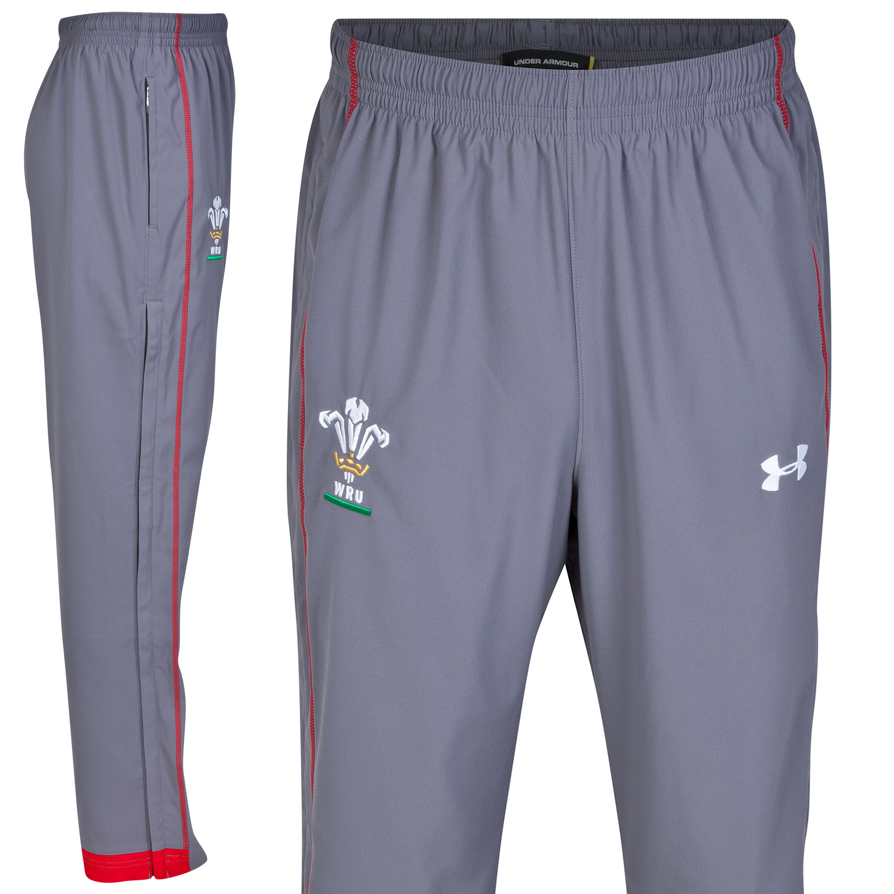 Wales Rugby Union Supporters Training Pants - Graphite/Red