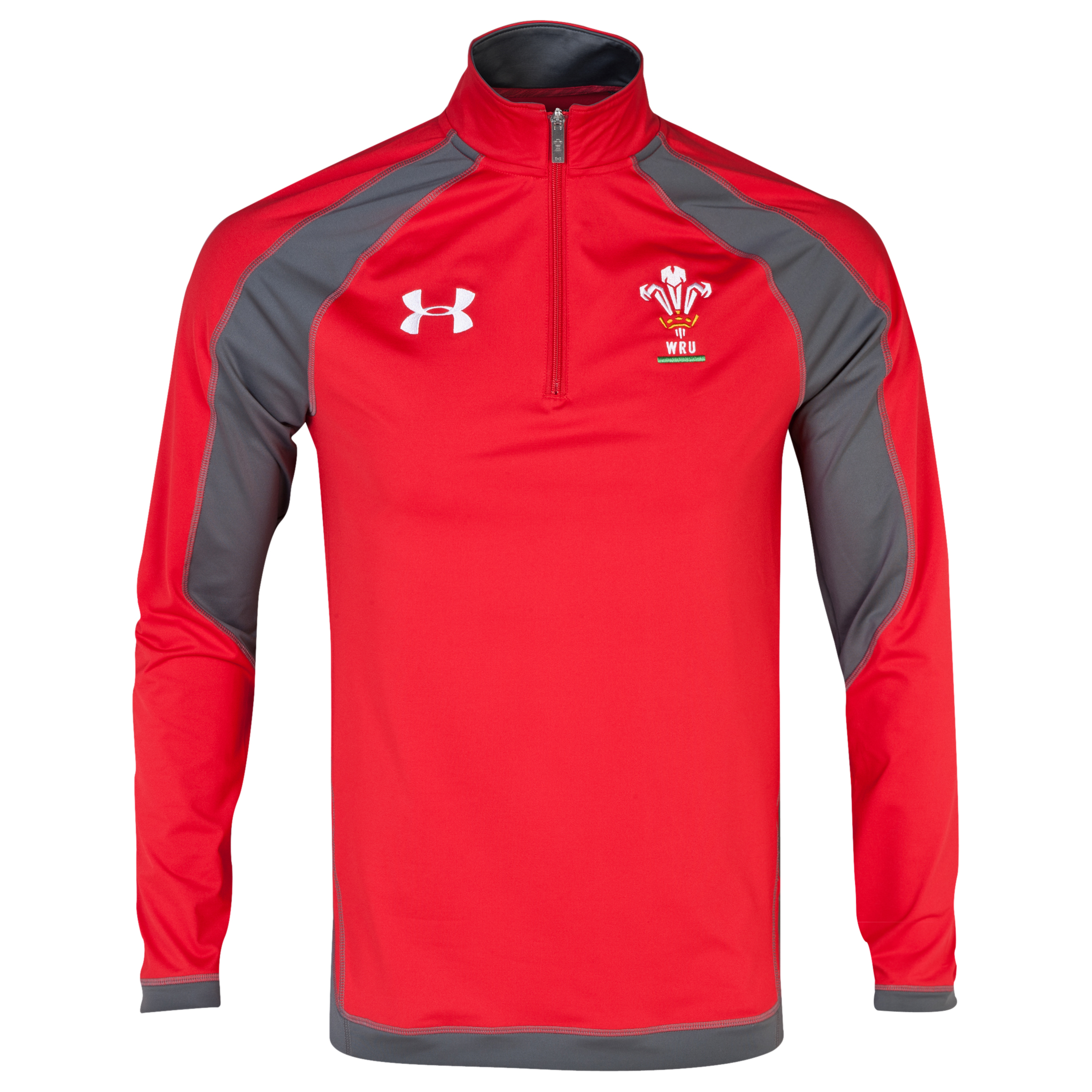 Wales Rugby Union Combine 1/4 Zip Top - Red/Graphite