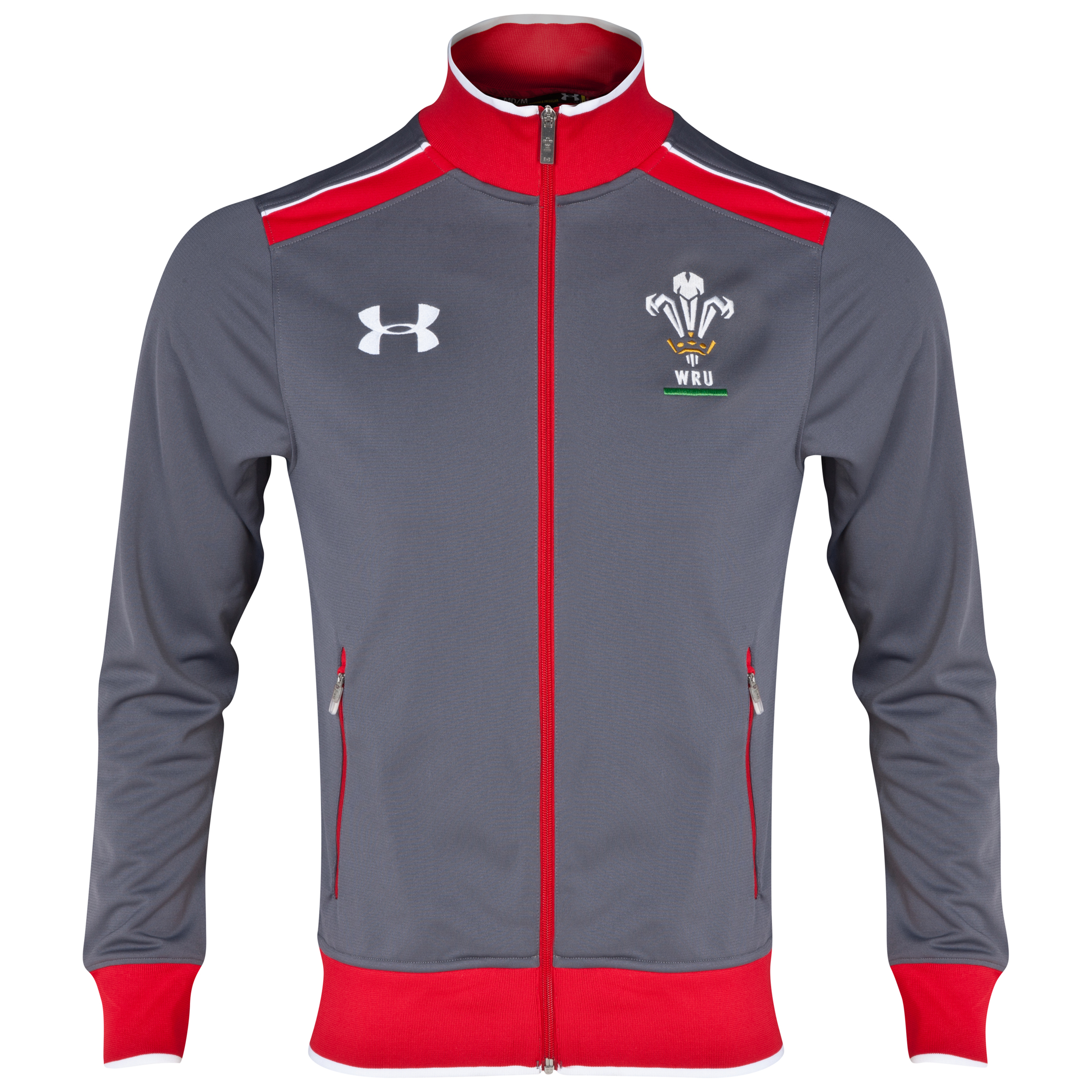 Wales Rugby Union Anthem Jacket 2013/15 - Graphite/Red/White