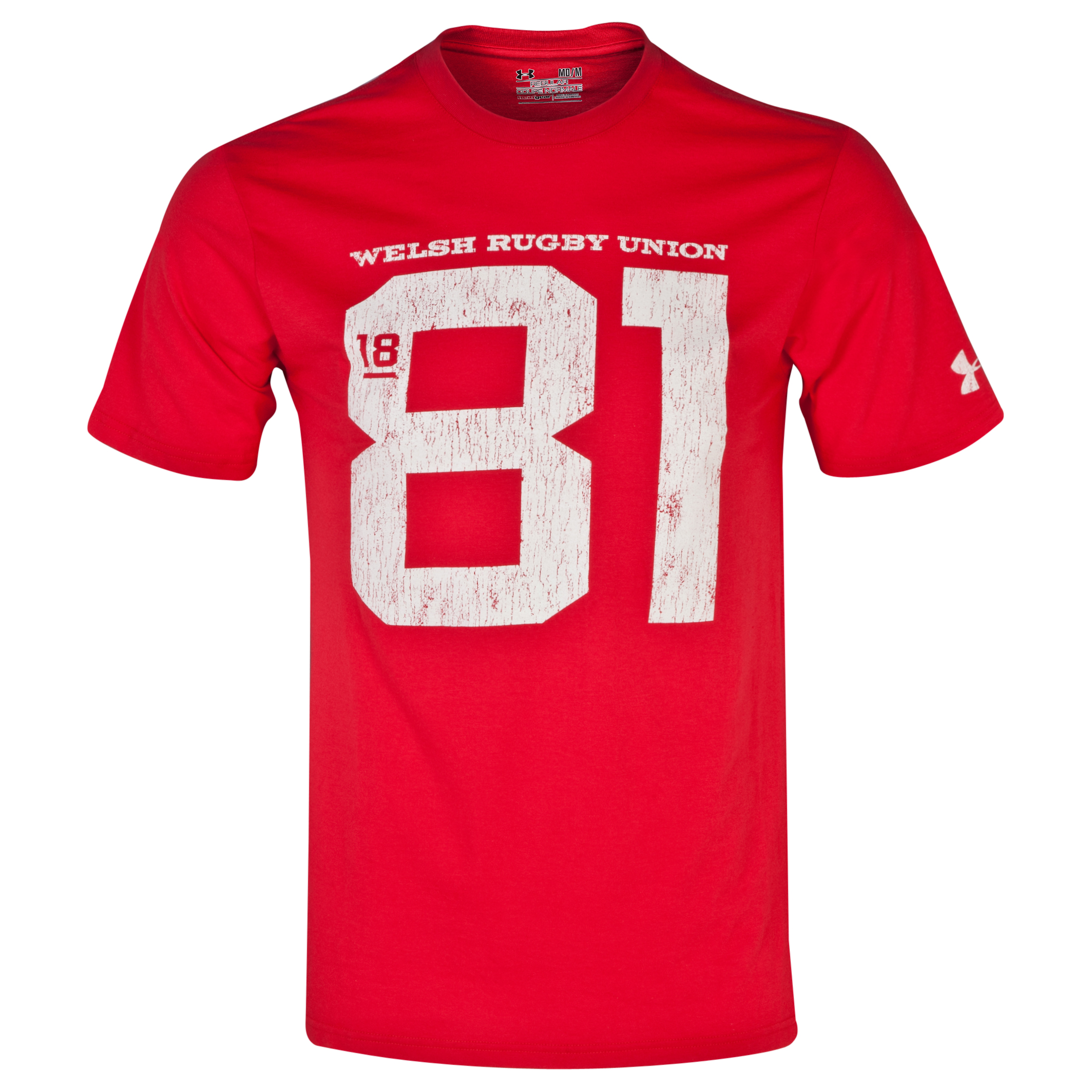 Wales Rugby Union 81 T-Shirt - Red/STN