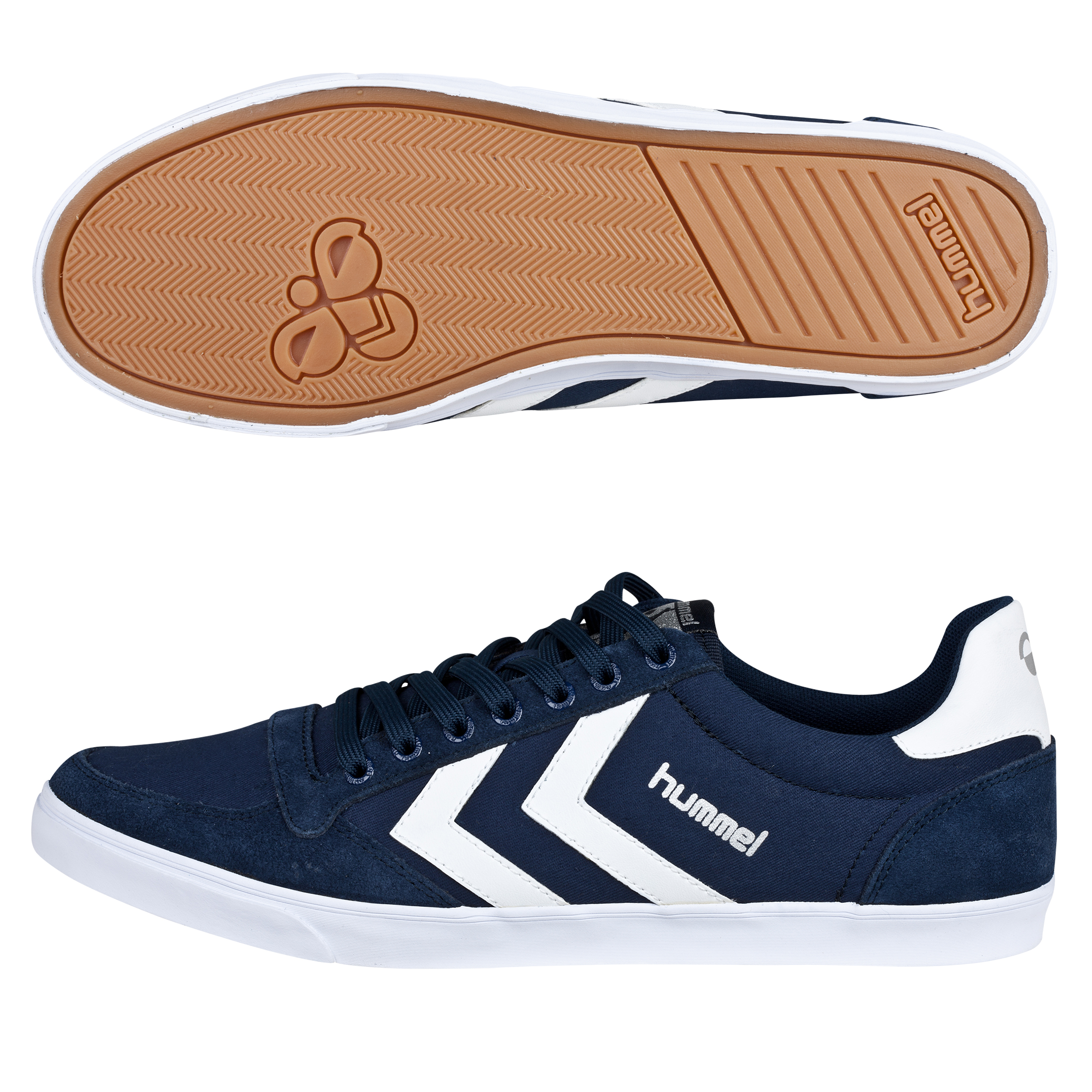 Hummel Slimmer Stadil Low Canvas Trainers - Dress Blue/White