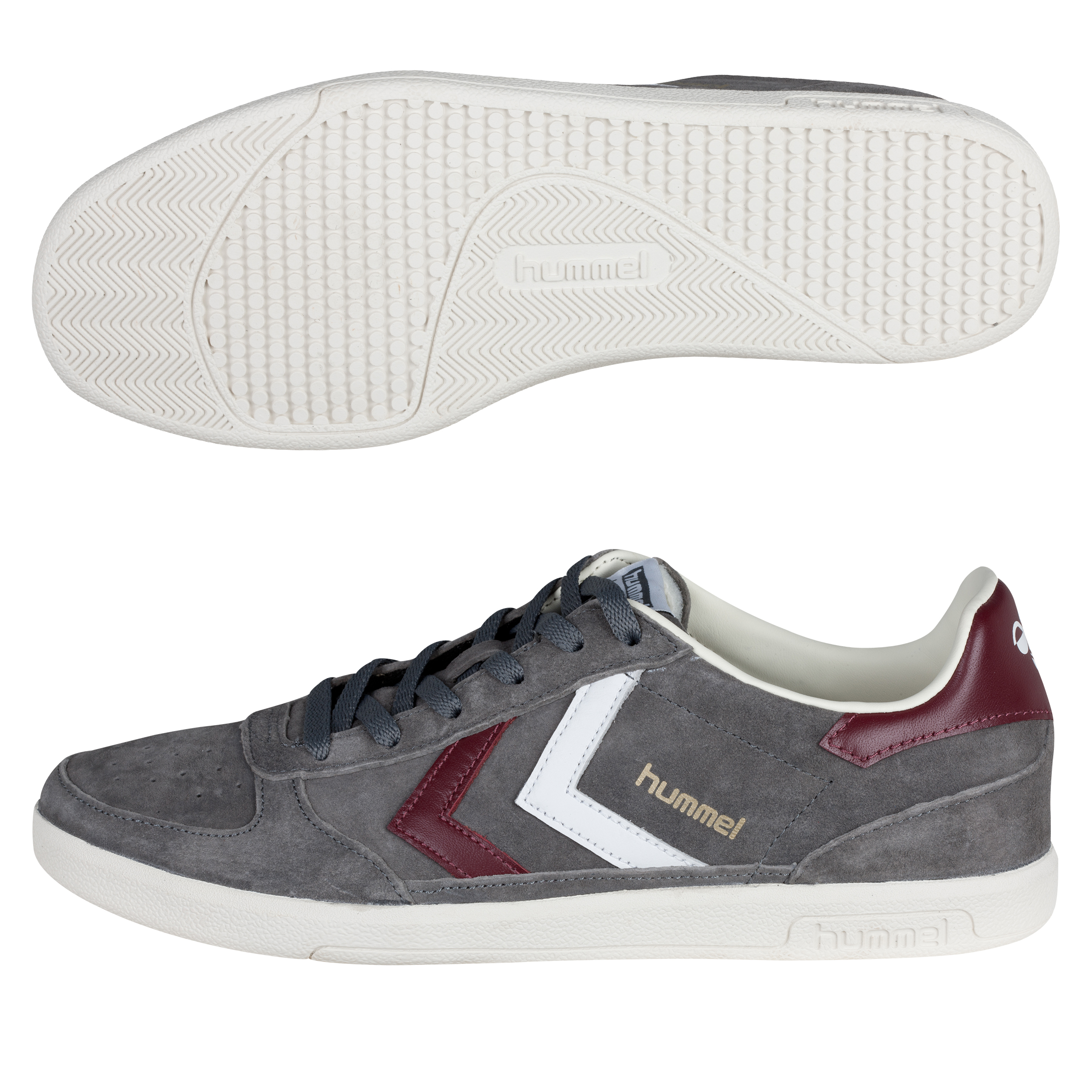 Hummel Victory Low Trainers - Castle Rock/Tawney Port/White
