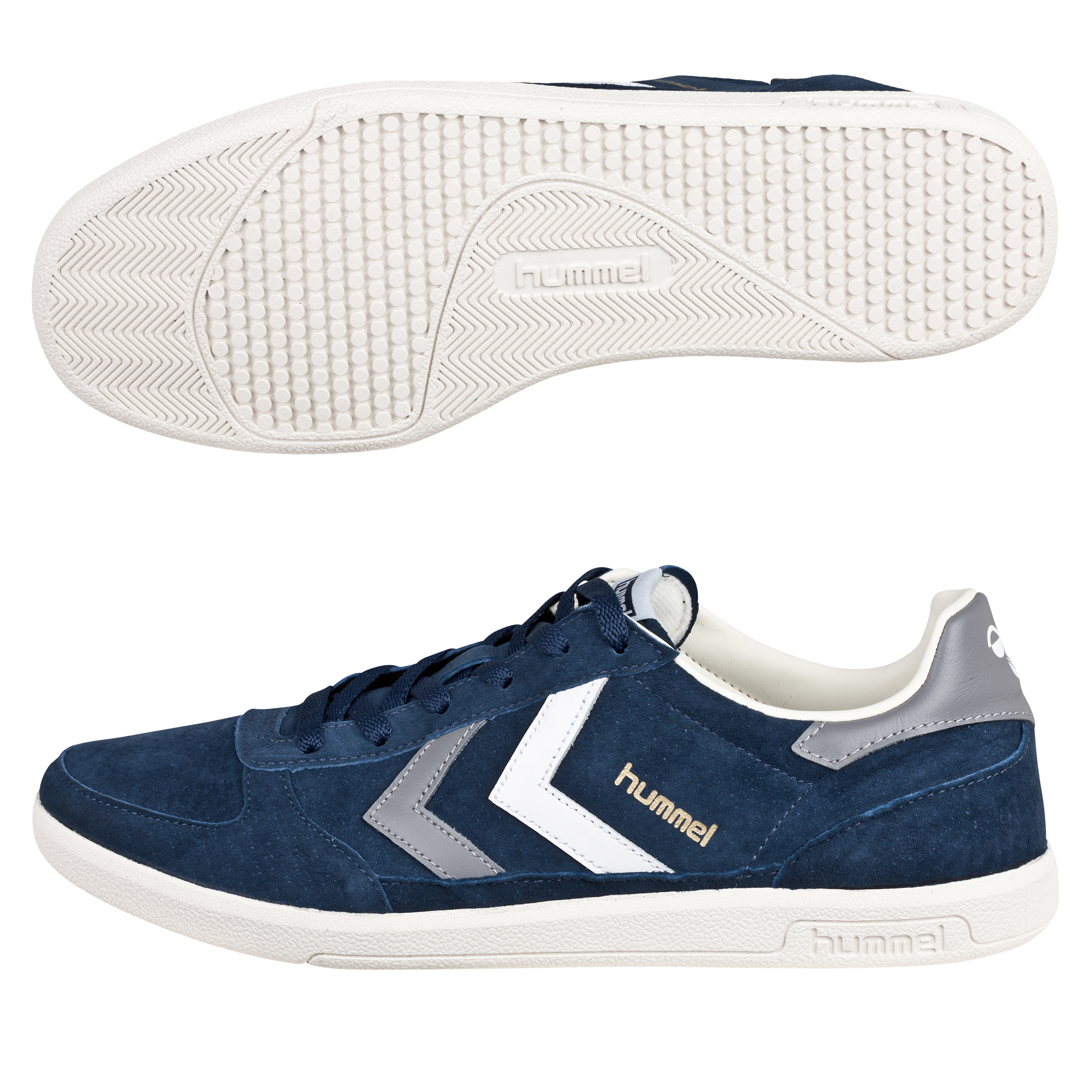 Hummel Victory Low Trainers - Dress Blue/Frost Grey/White
