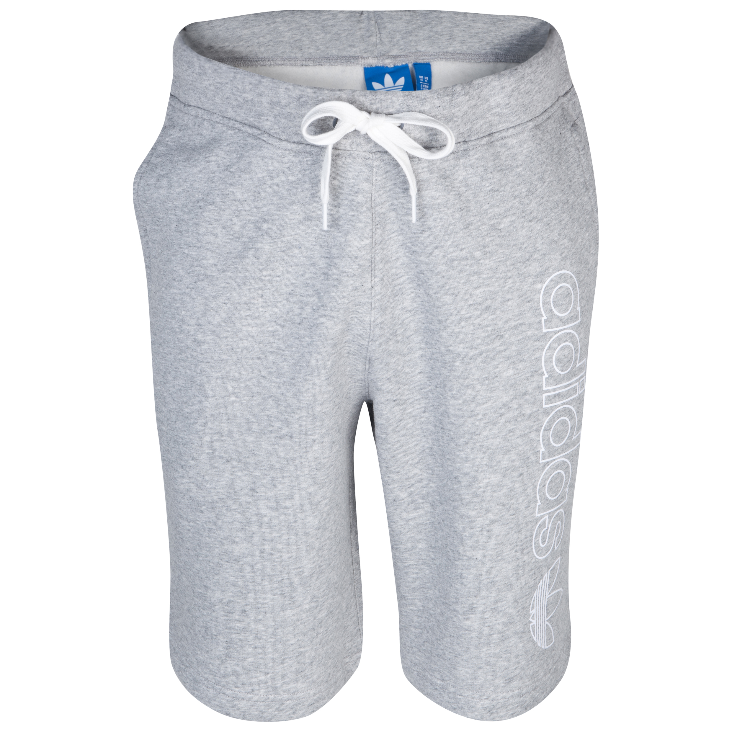 Originals Fleece Logo Short - Medium Grey Heather/White