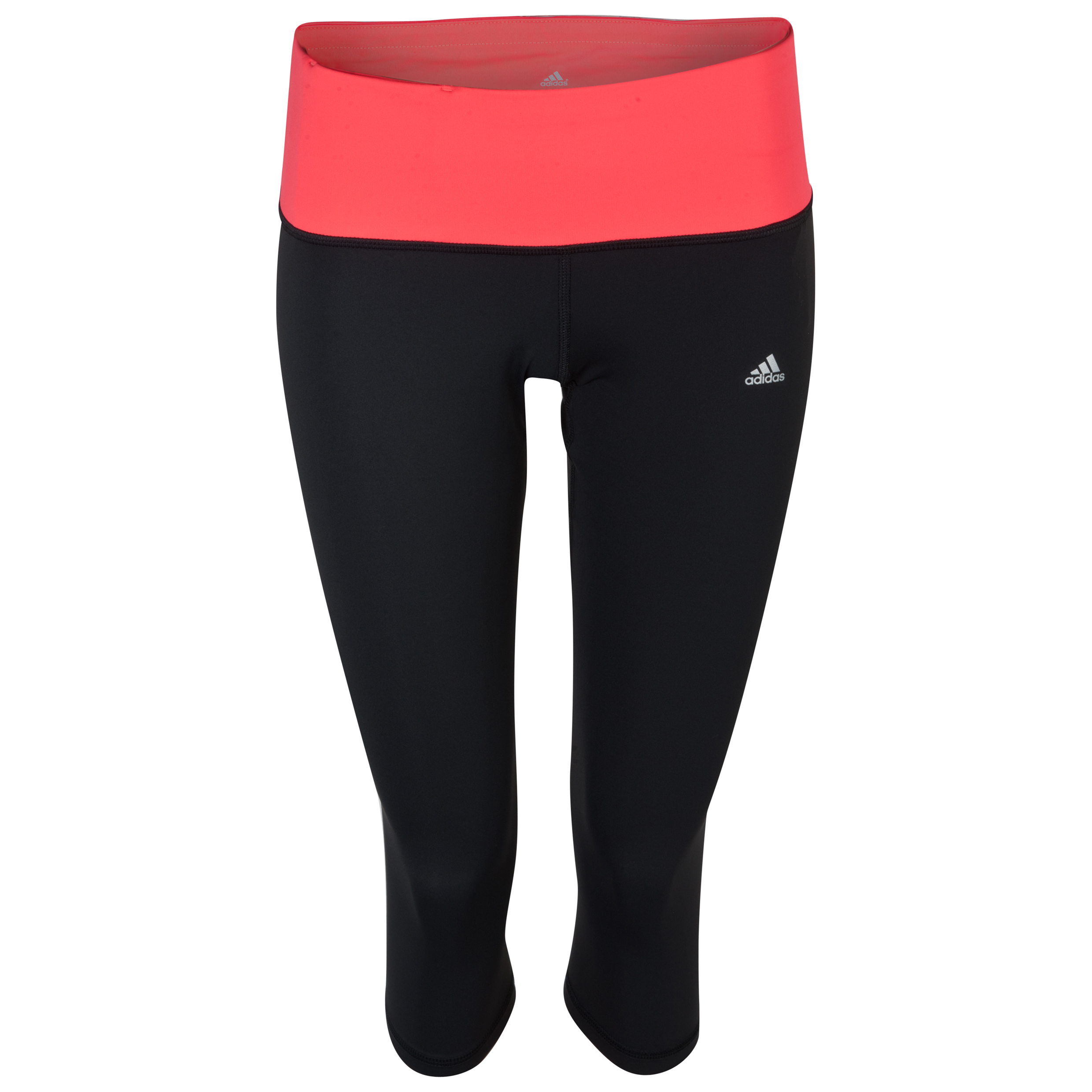 adidas Tech Fit Perfect 3/4 Capri - Black/Red Zest - Womens