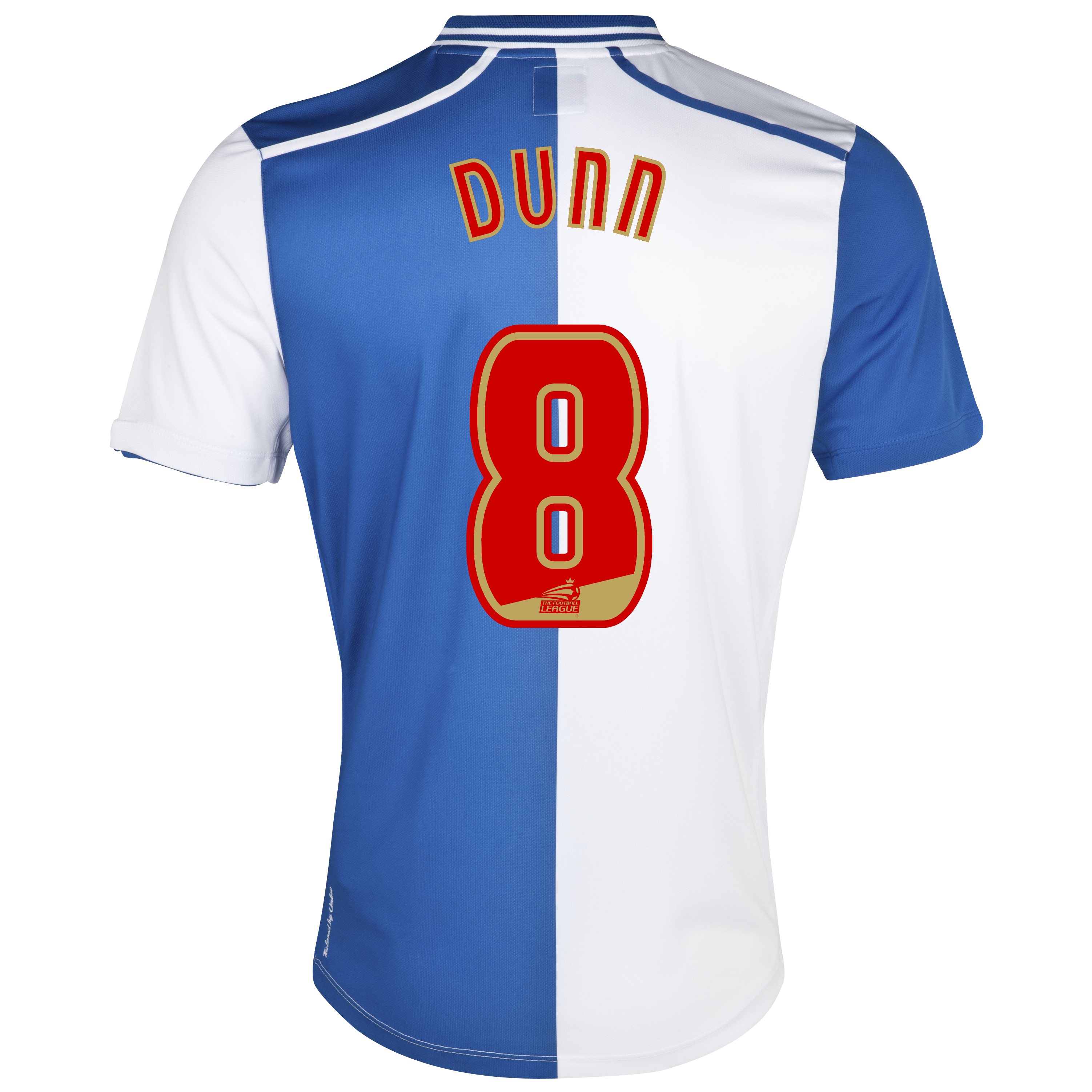 Blackburn Rovers Home Shirt 2012/13 with Dunn 8 printing