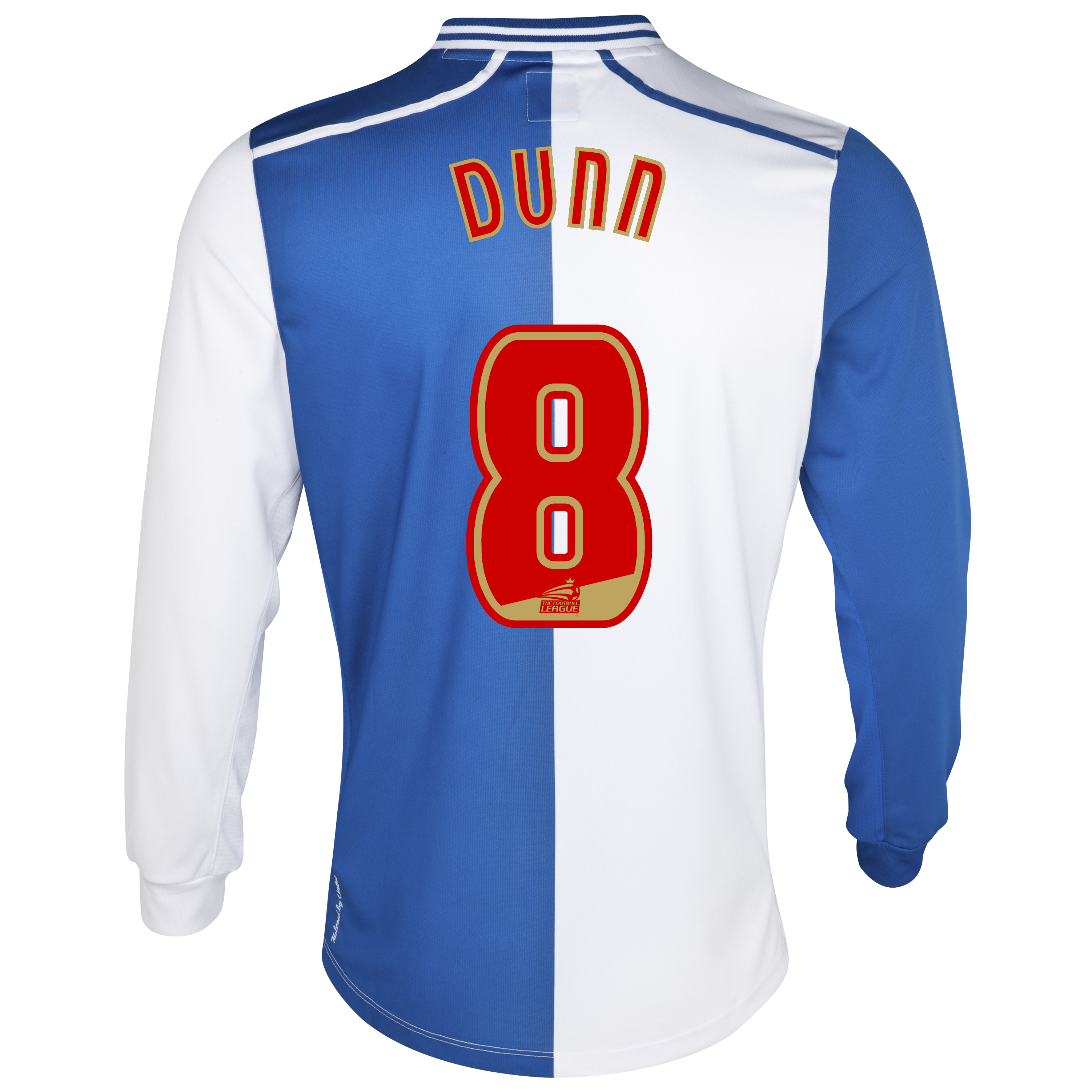 Blackburn Rovers Home Shirt 2012/13 - Long Sleeve with Dunn 8 printing