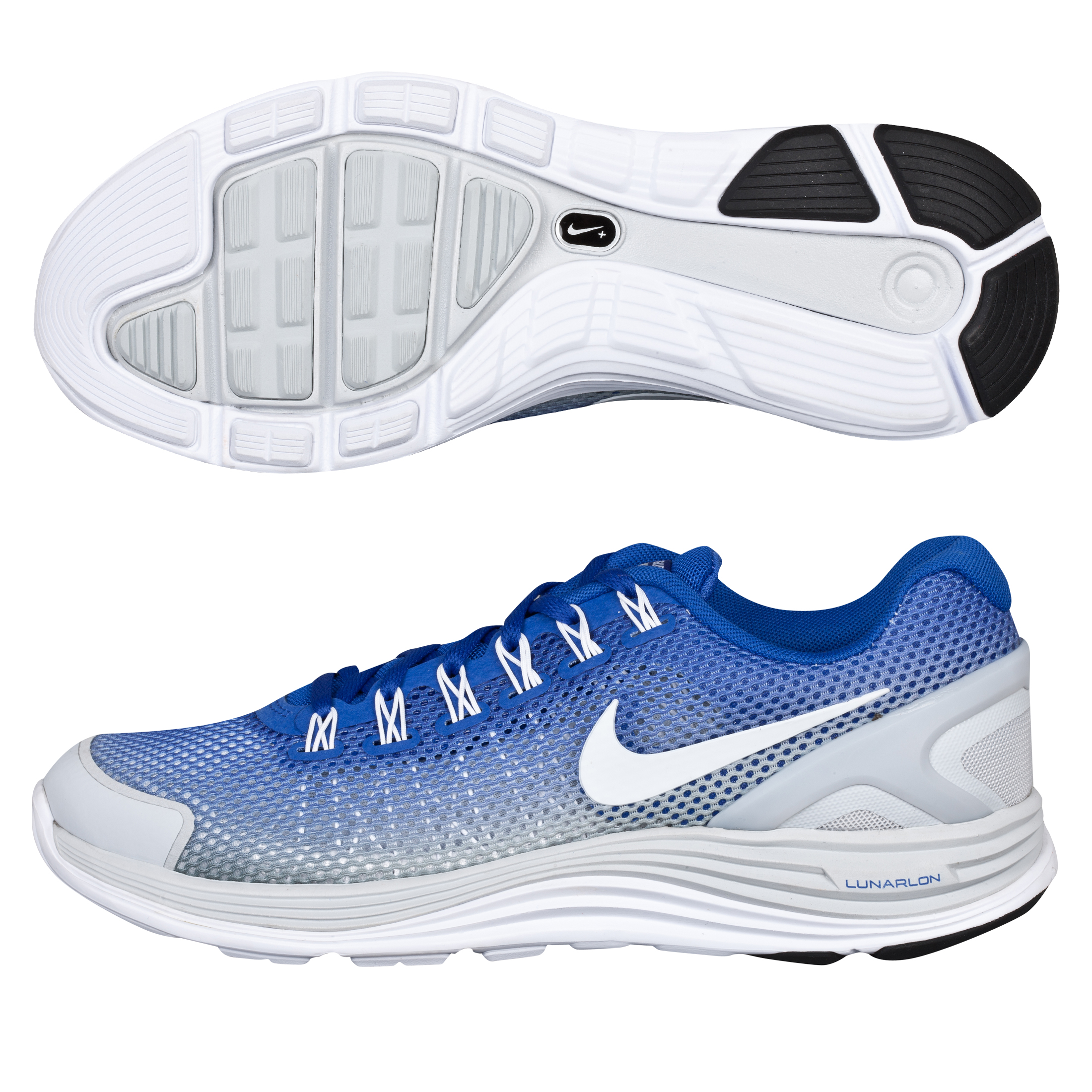 Nike Lunarglide+ 4 (Breathe) Trainer - Hyper Blue/ White Pure Platinum