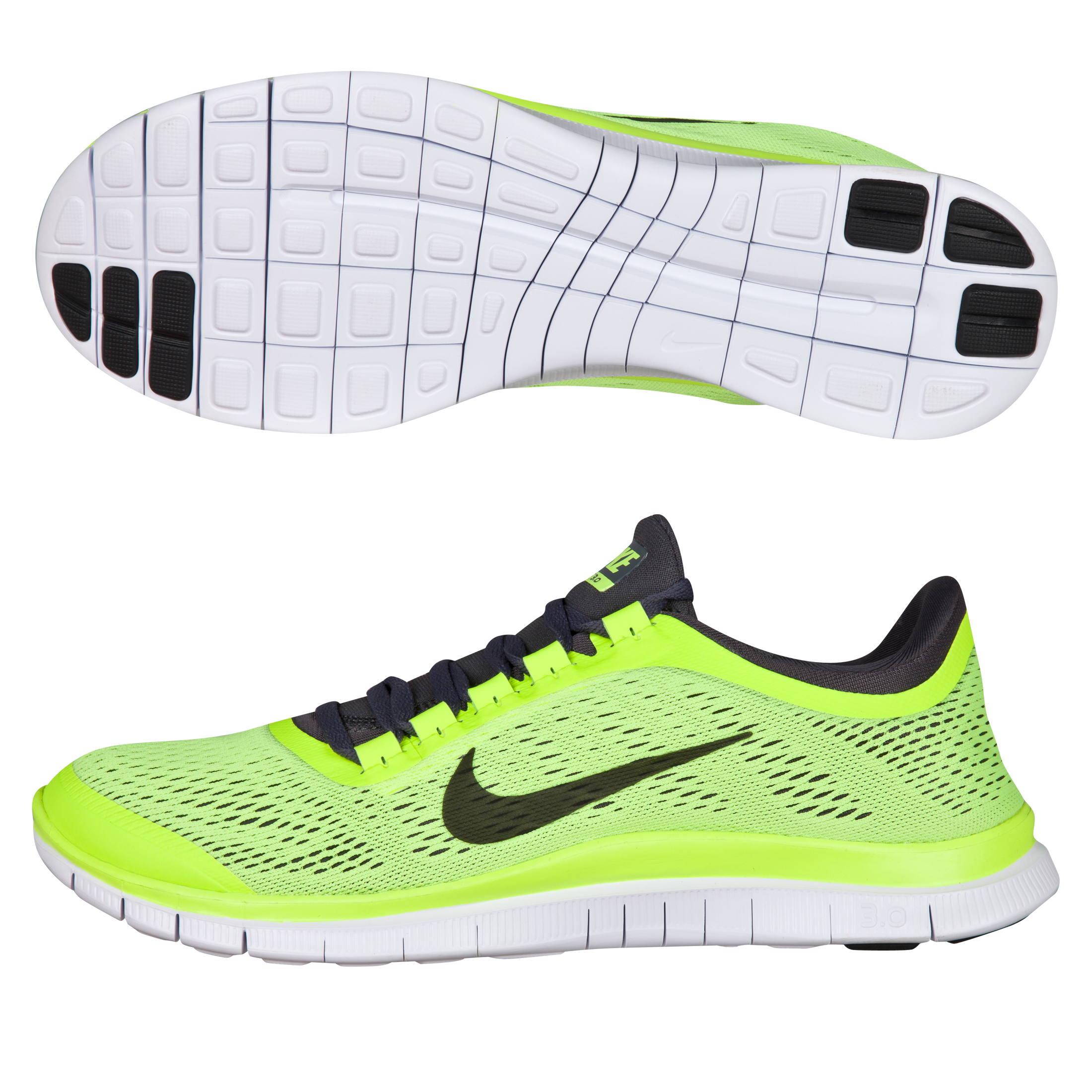 Nike Free 3.0 V5 Trainer - Volt/Dark Grey/White