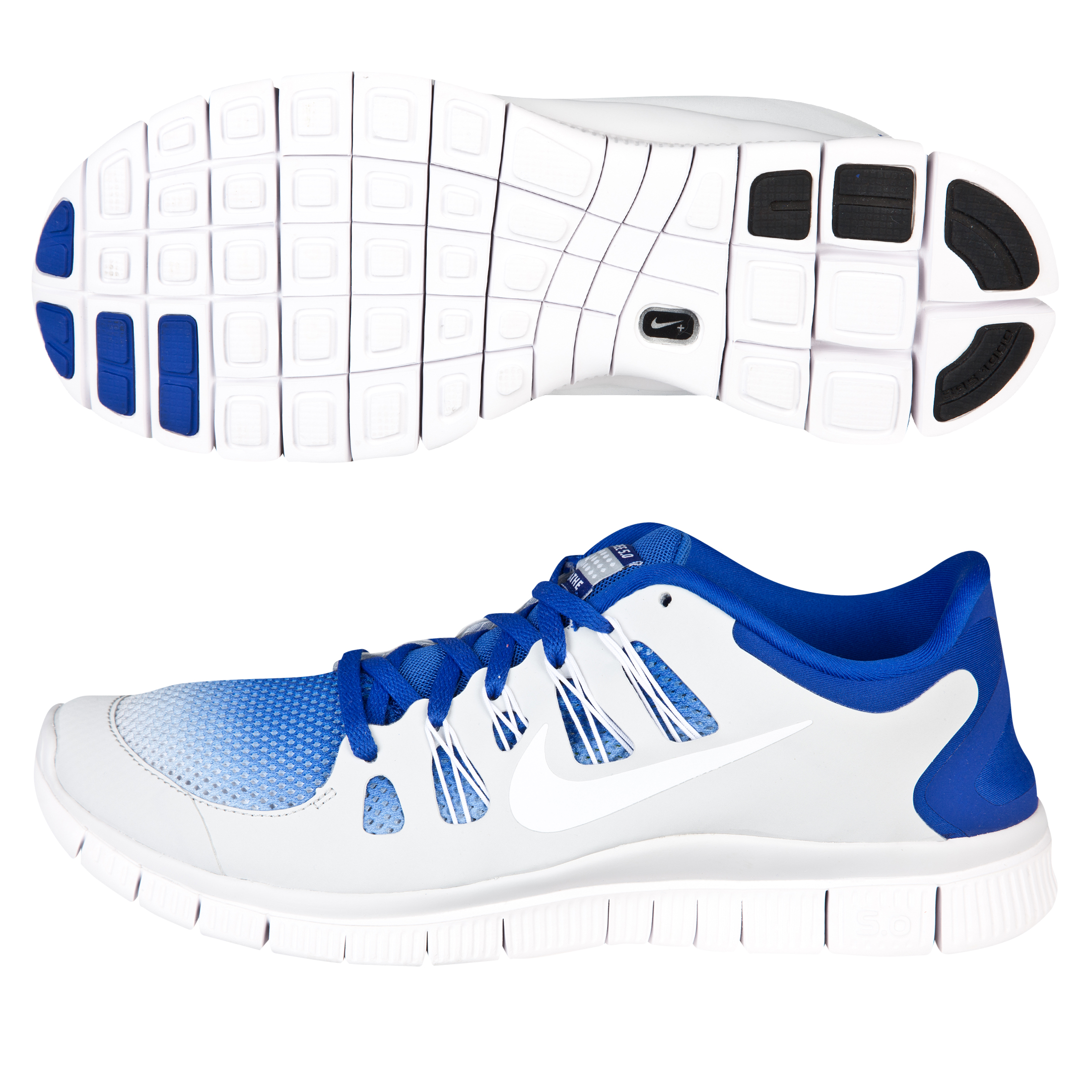 Nike Free 5.0+ (Breathe) Trainer- Hyper Blue/White/Pure Platinum