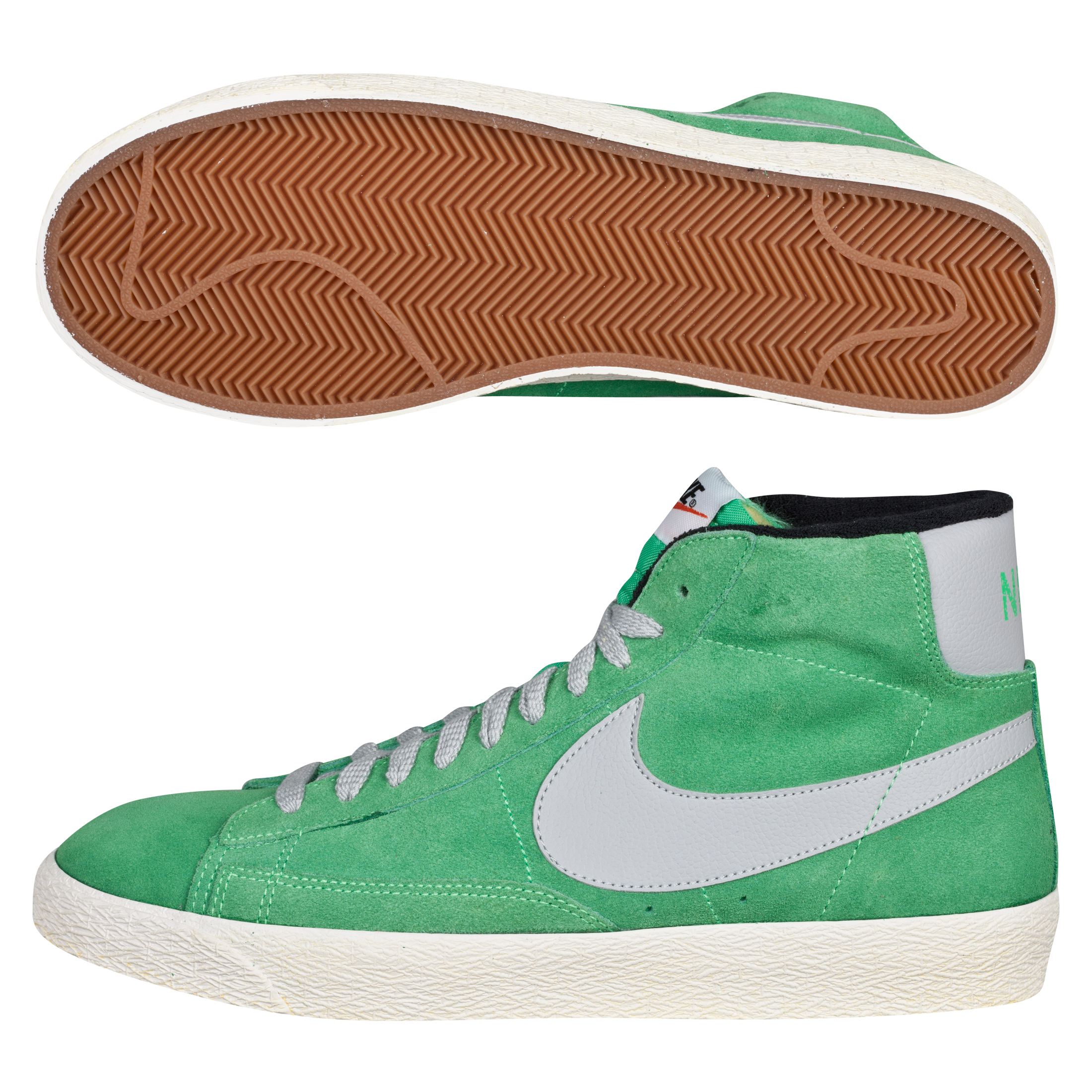 Nike Blazer Mid Premium Vintage Suede Trainer - Poison Green/Strata Grey-Black