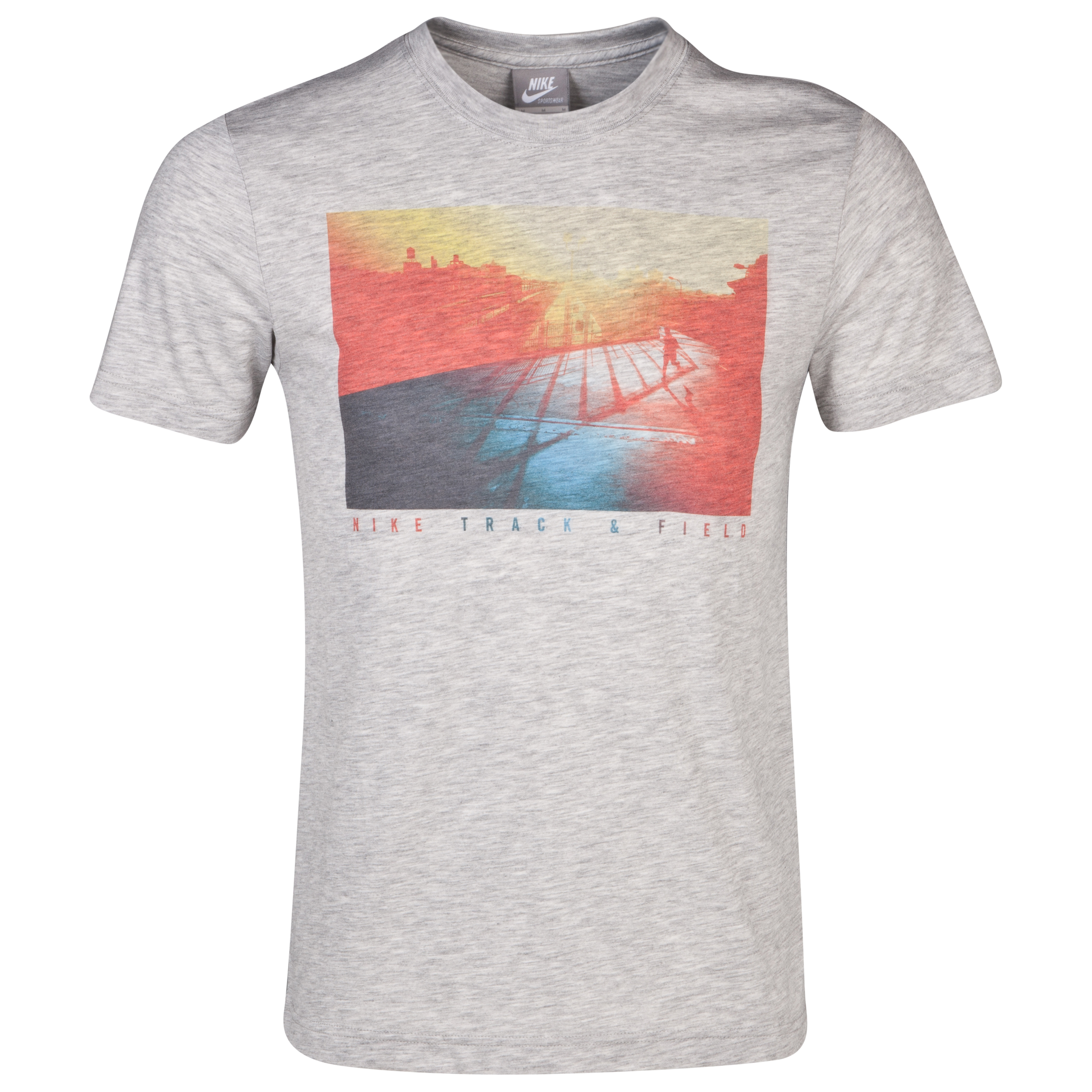 Nike Sunset Run Photo T-Shirt - Grey Heather