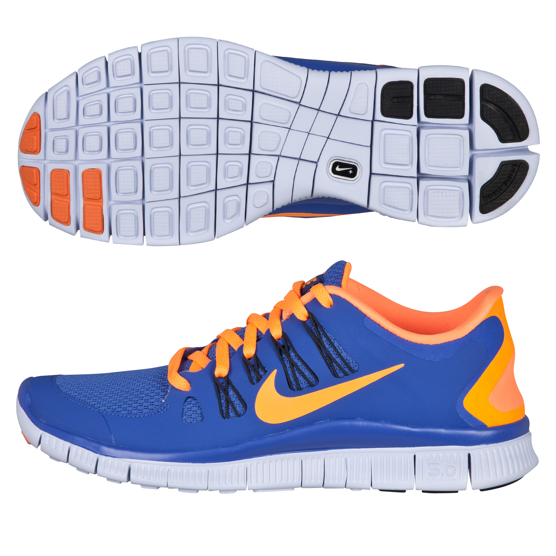 Nike Free 5.0+ Trainer - Purple/Bright Citrus - Womens