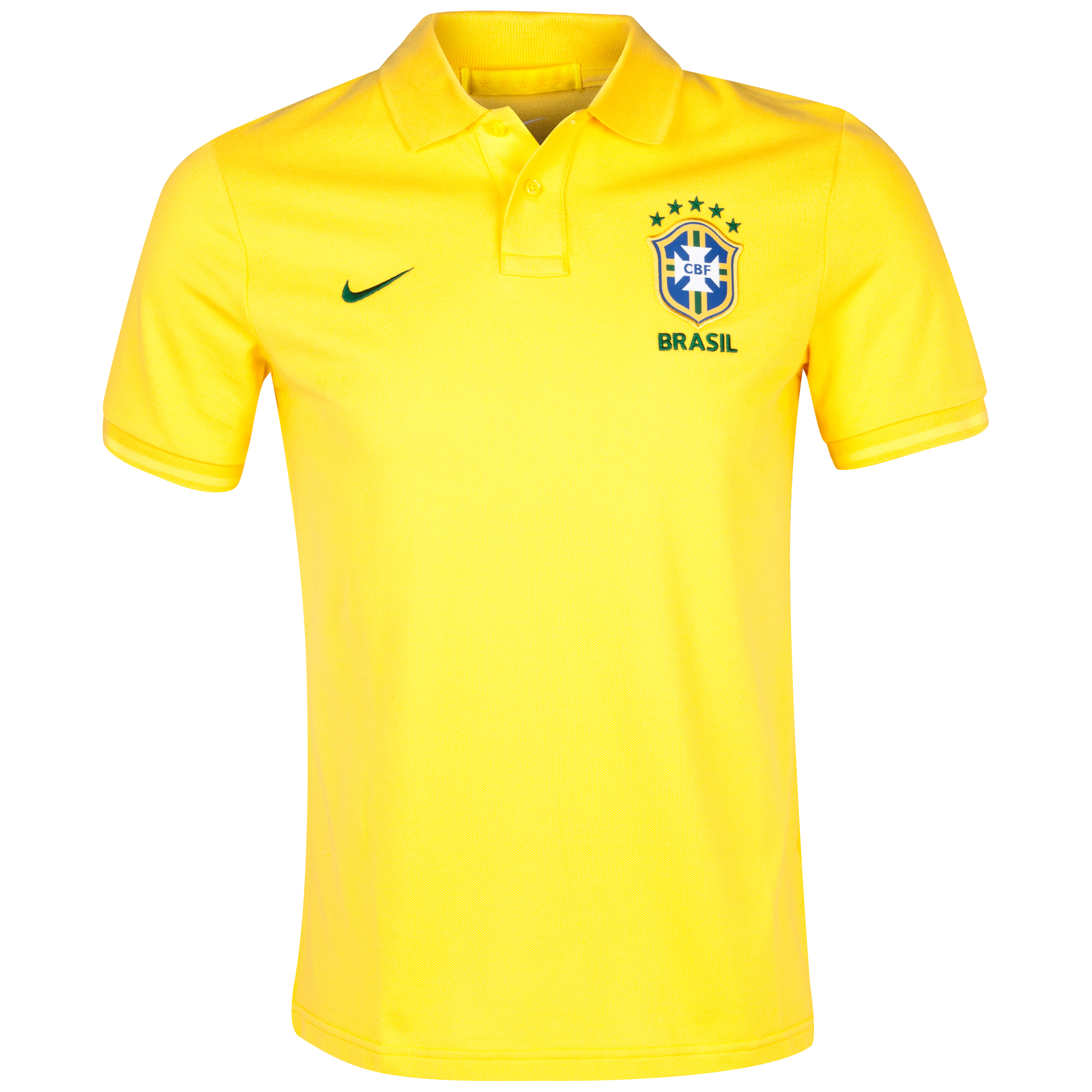 Brazil Authentic Grand Slam Polo - Varsity Maize/Tour Yellow/Pine Green