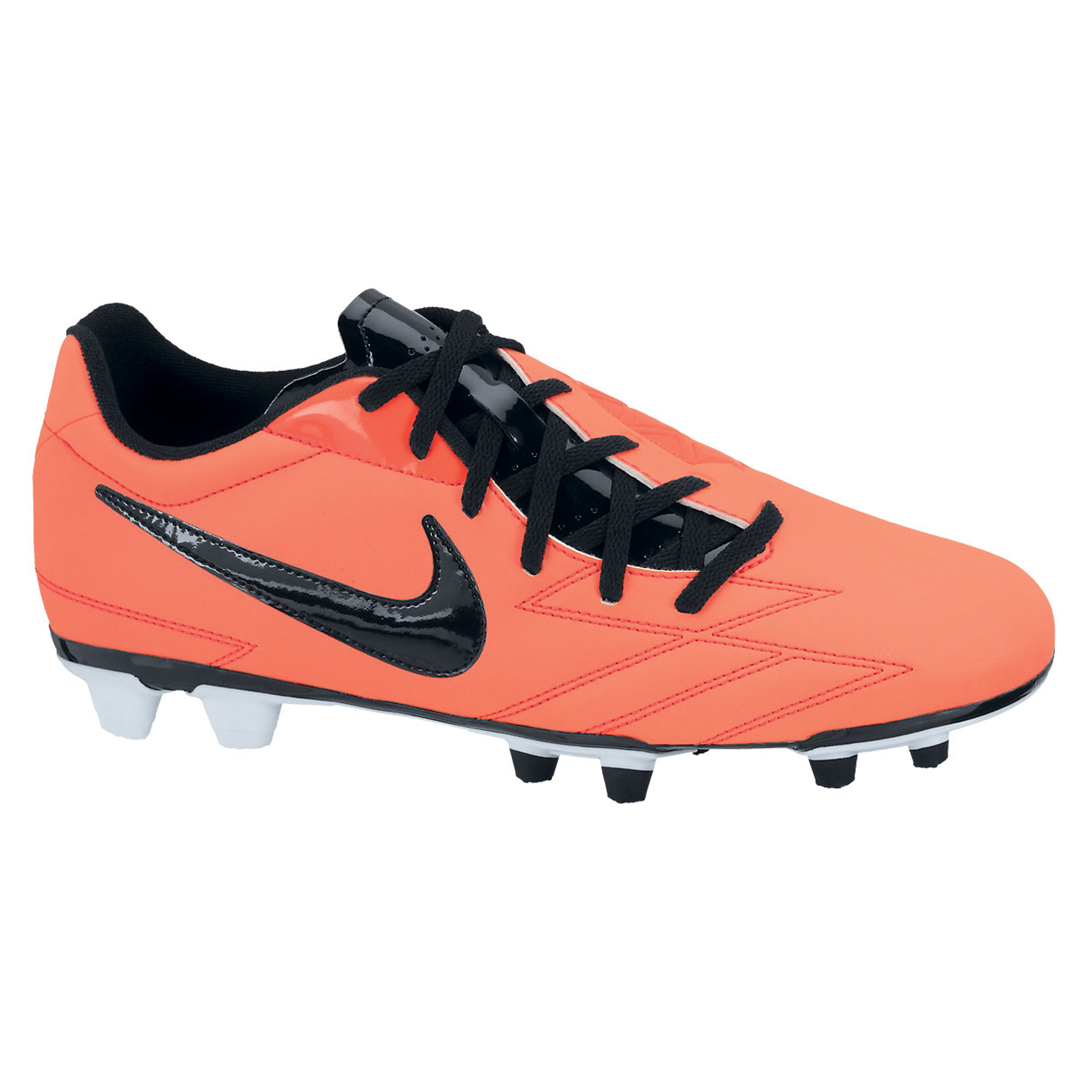 Nike Total90 Exacto IV Firm Ground Football Boots - Bright Mango/Black/Total Crimson/White