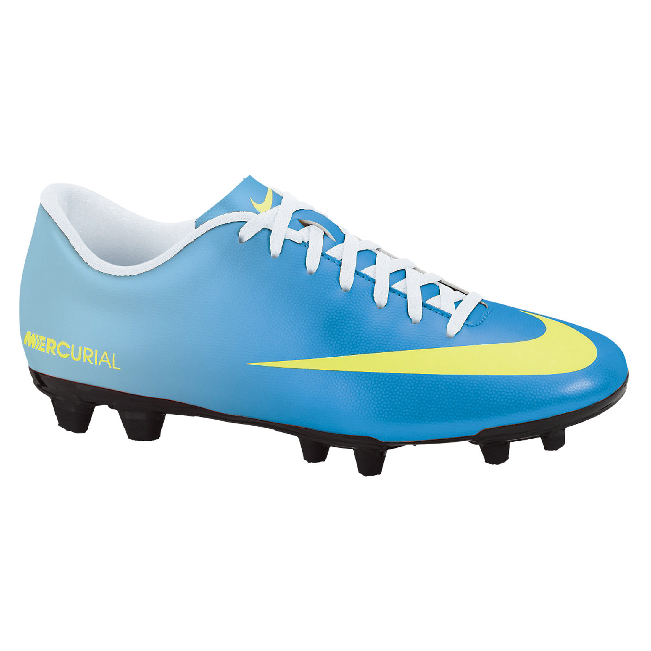 Nike Mercurial Vortex Firm Ground Football Boots - Neptune Blue/Volt/Toad Pool Blue