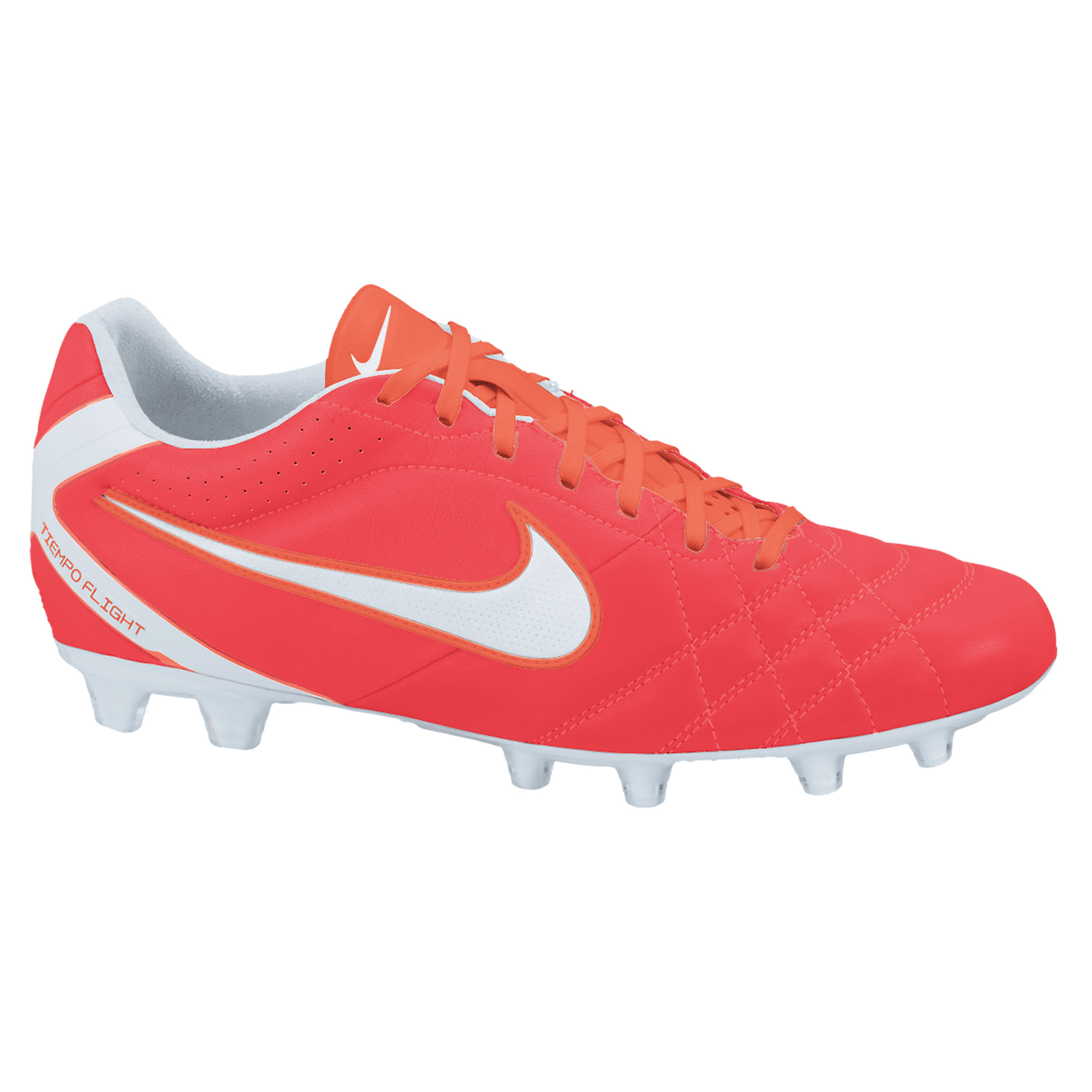 Nike Tiempo Flight Firm Ground Football Boots - Sunburst/White/Total Crimson