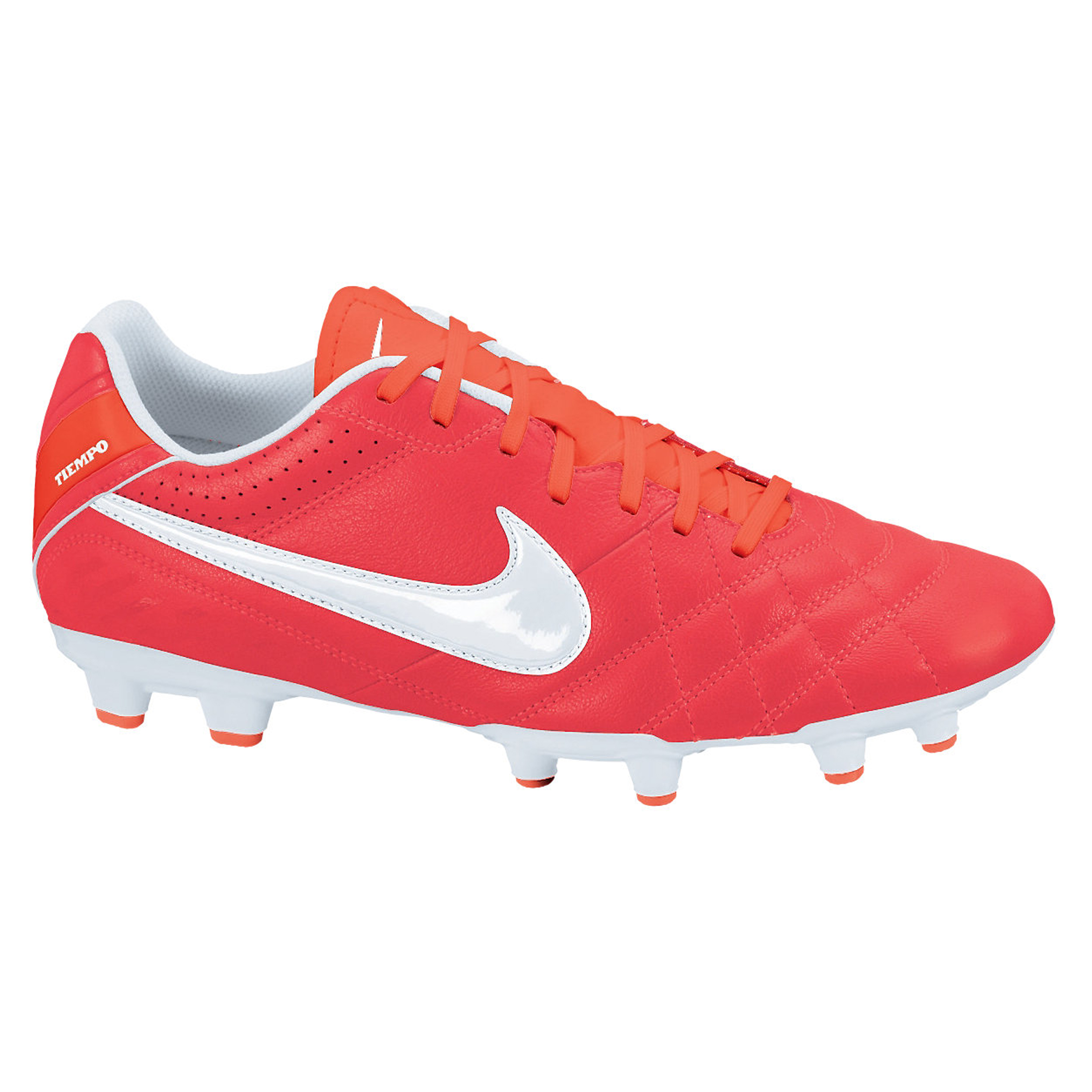Nike Tiempo Natural IV LTR Firm Ground Football Boots - Sunburst/White/Total Crimson