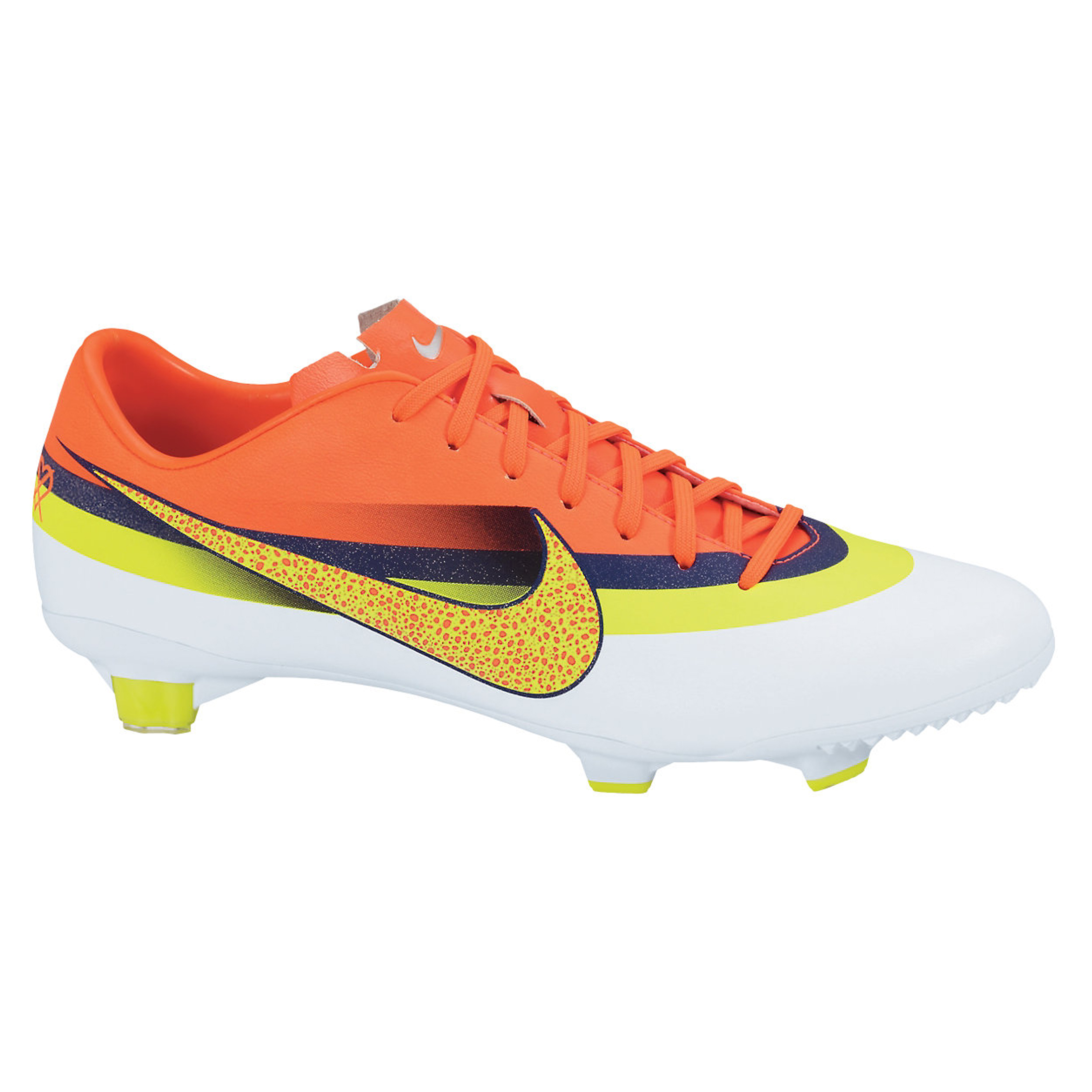 Nike Mercurial Vapor IX CR7 Firm Ground Football Boots - White/Volt/Loyal Blue/Total Crimson