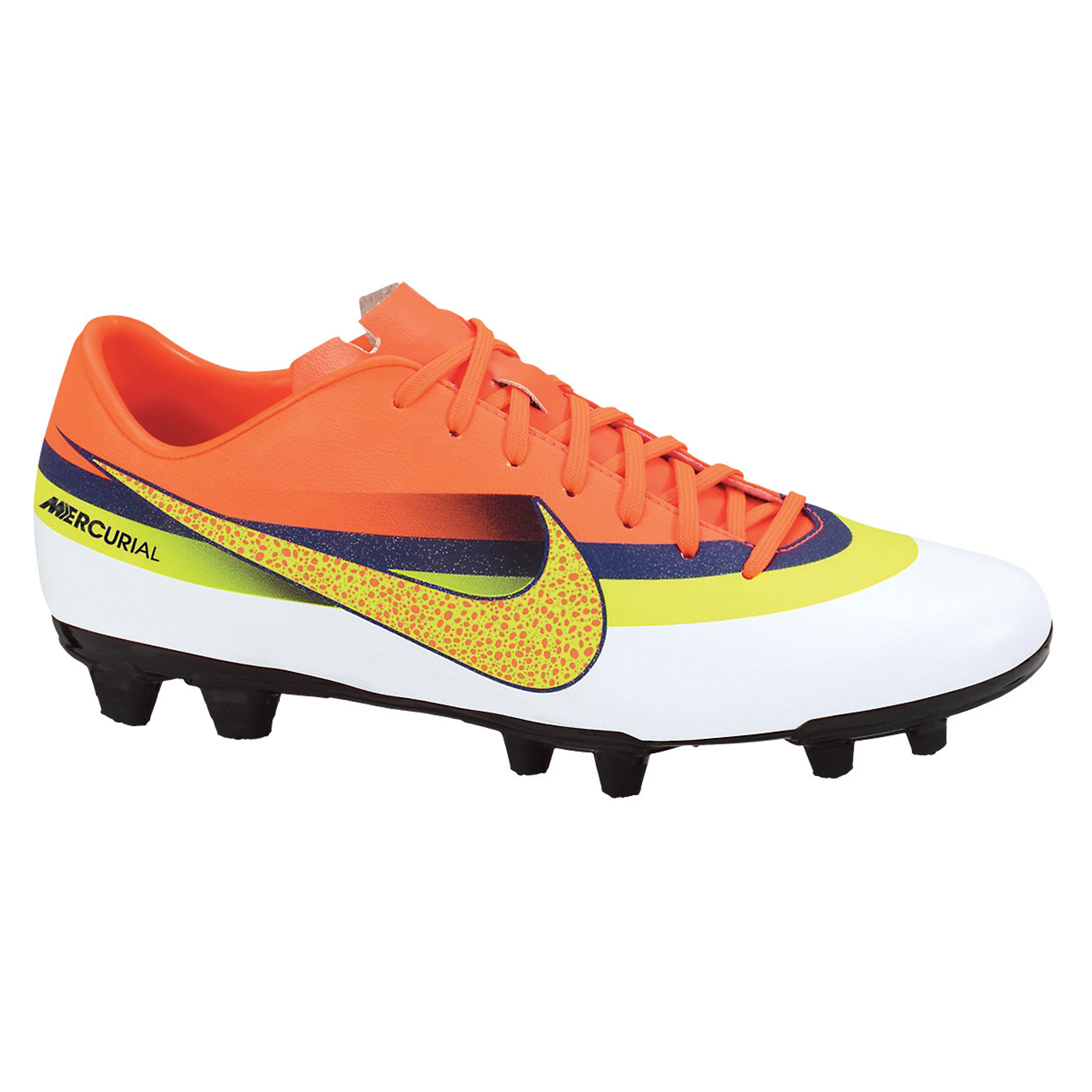 Nike Mercurial Vortex CR7 Firm Ground Football Boots - White/Volt/Loyal Blue/Total Crimson