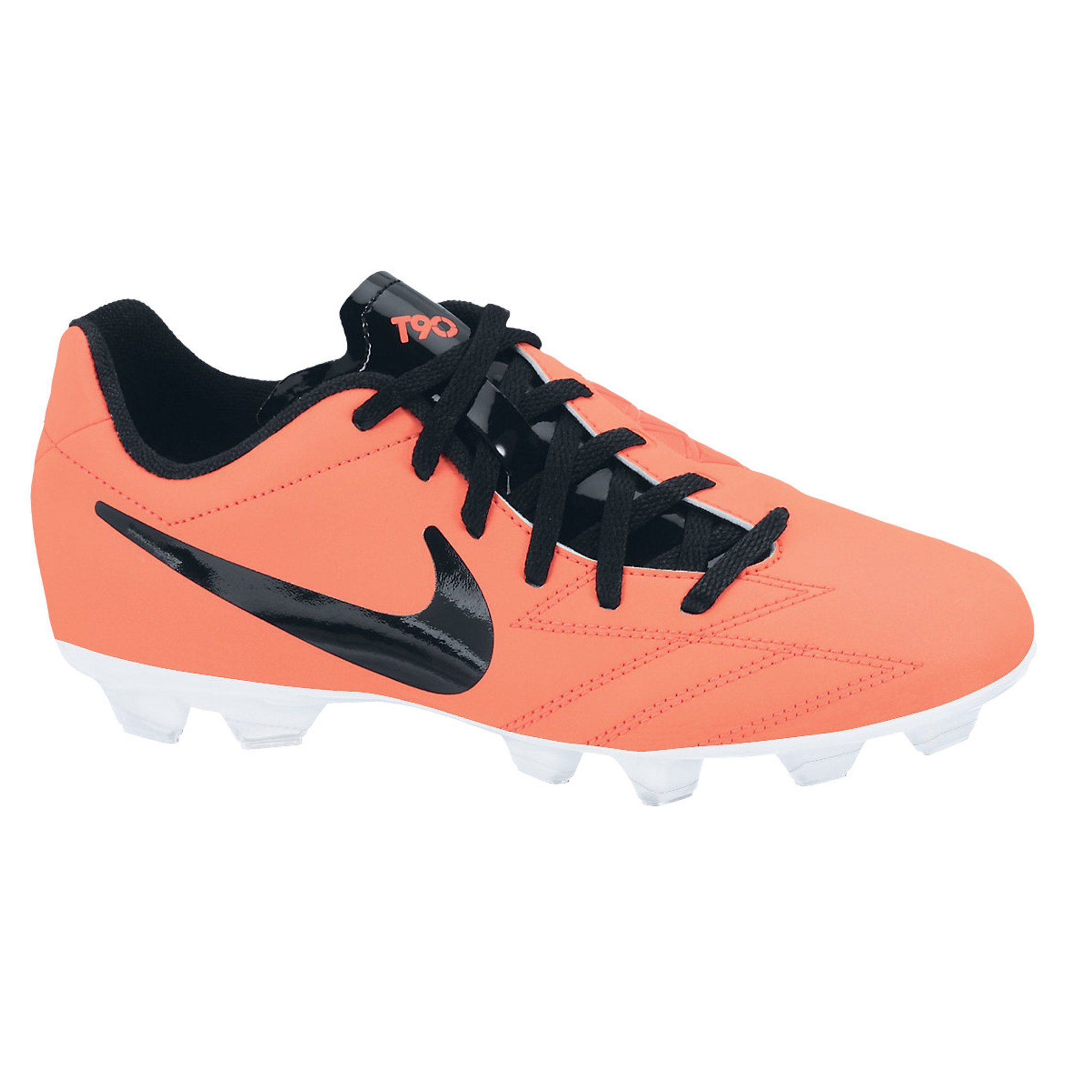 Nike Total90 Shoot IV Firm Ground Football Boots - Bright Mango/Black/Total Crimson/White - Kids