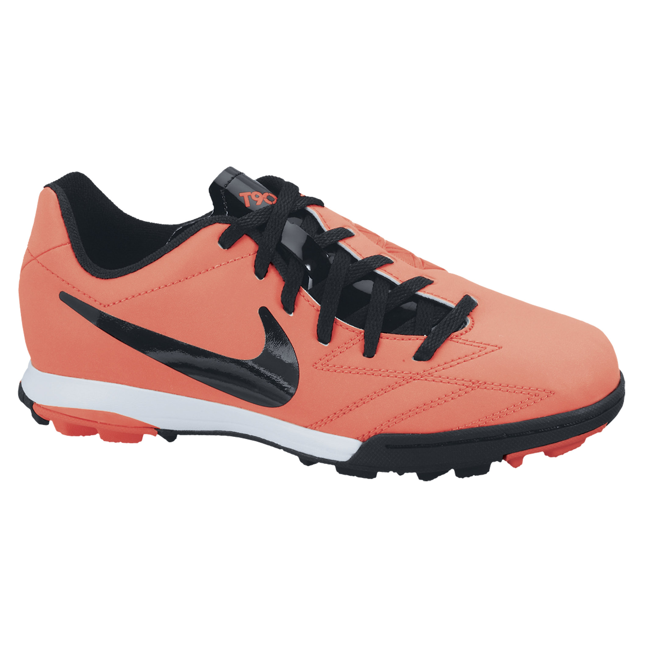 Nike Total90 Shoot IV Astroturf Trainers - Bright Mango/Black/Total Crimson/White - Kids