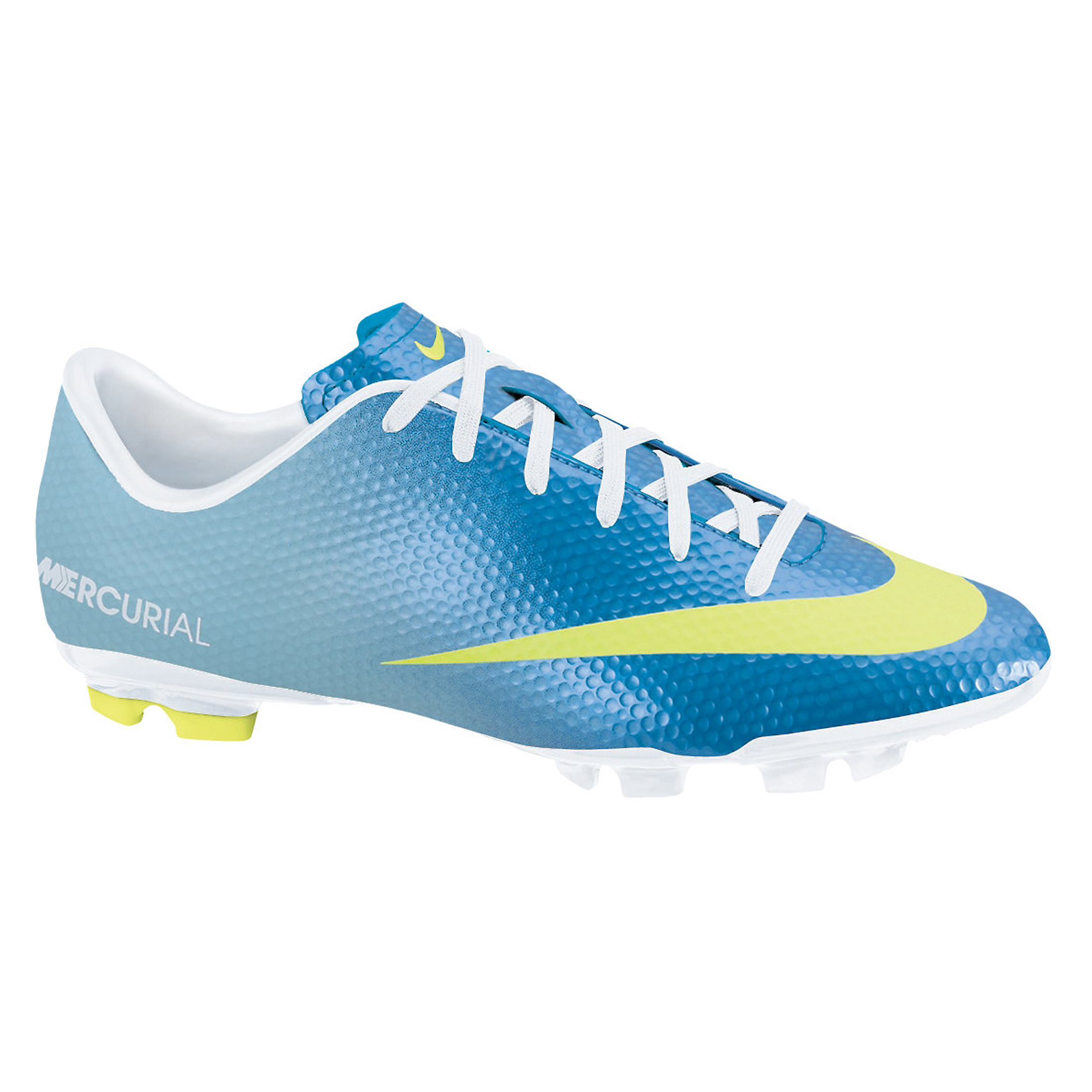 Nike Mercurial Victory IV Firm Ground Football Boots - Neptune Blue/Volt/Toad Pool Blue - Kids