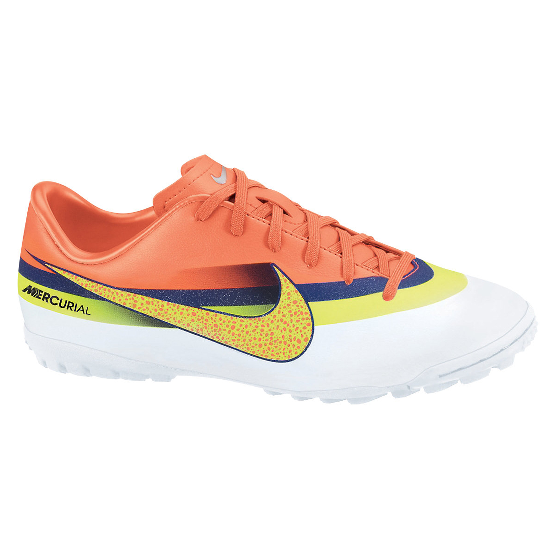 Nike Mercurial Victory IV CR7 Astroturf Trainers - White/Volt/Loyal Blue/Total Crimson - Kids