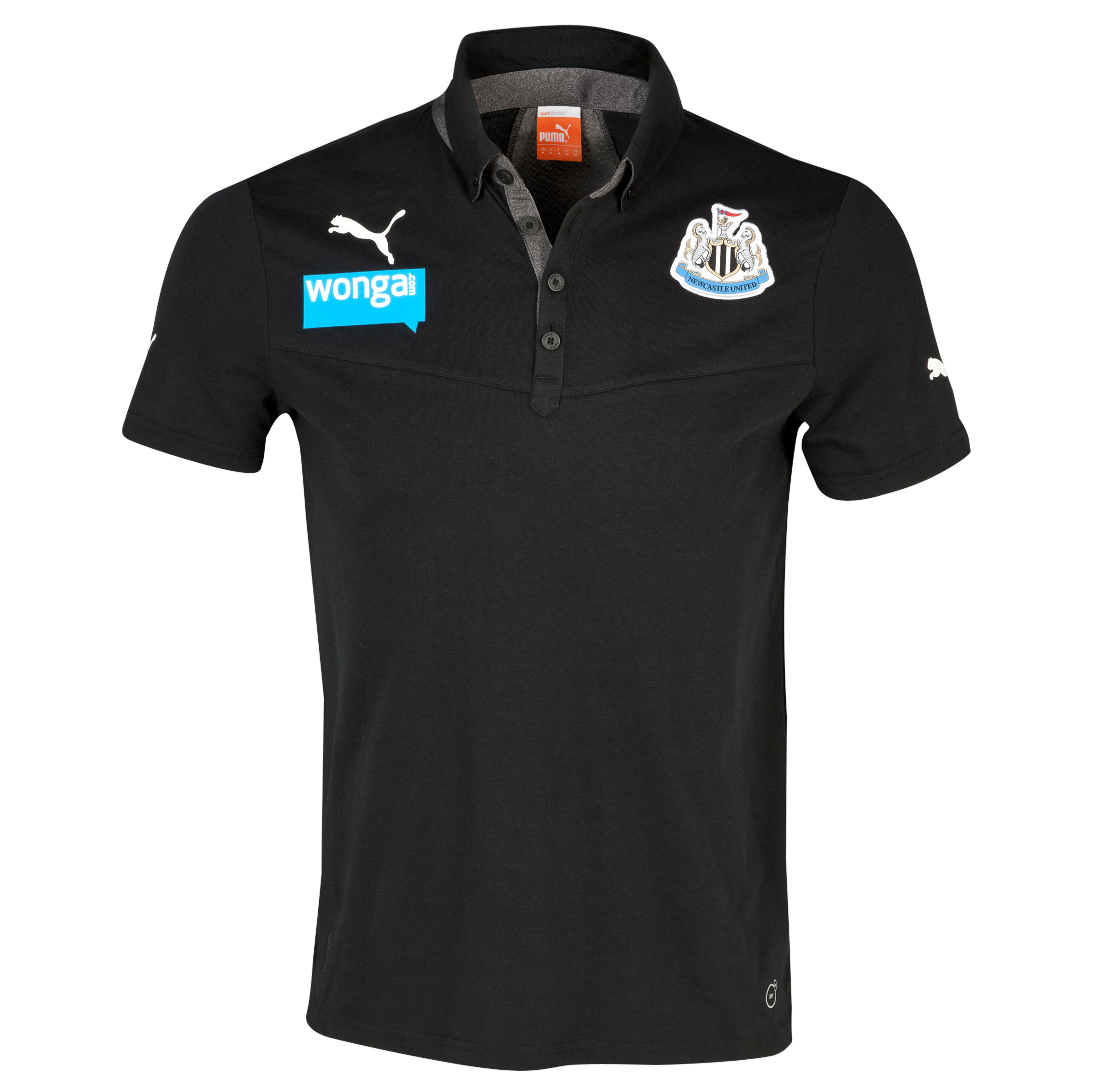 Newcastle United Polo - Black/Dark Grey Heather