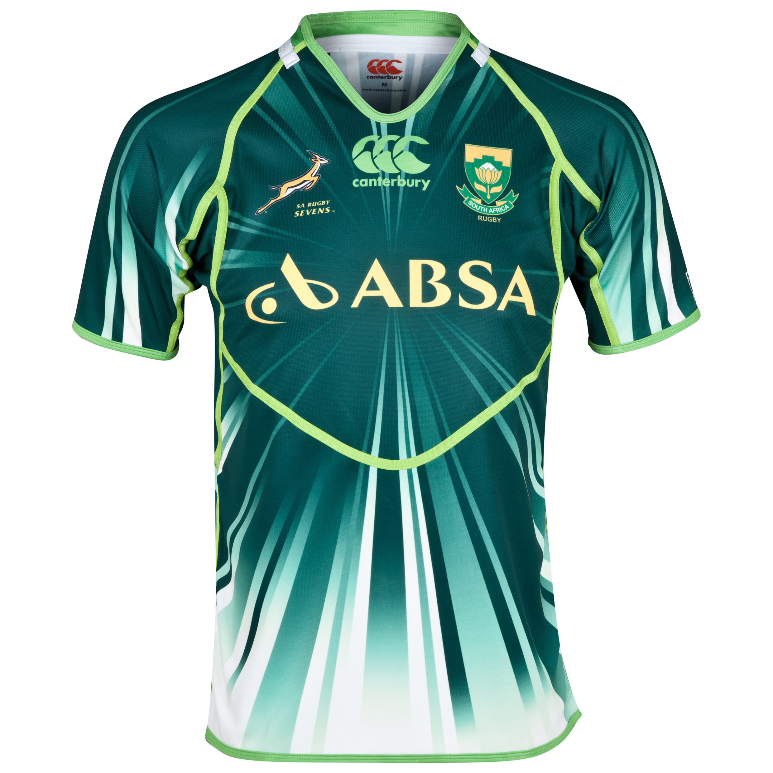 South Africa Springboks Home Sevens Rugby Pro Shirt 2013/14