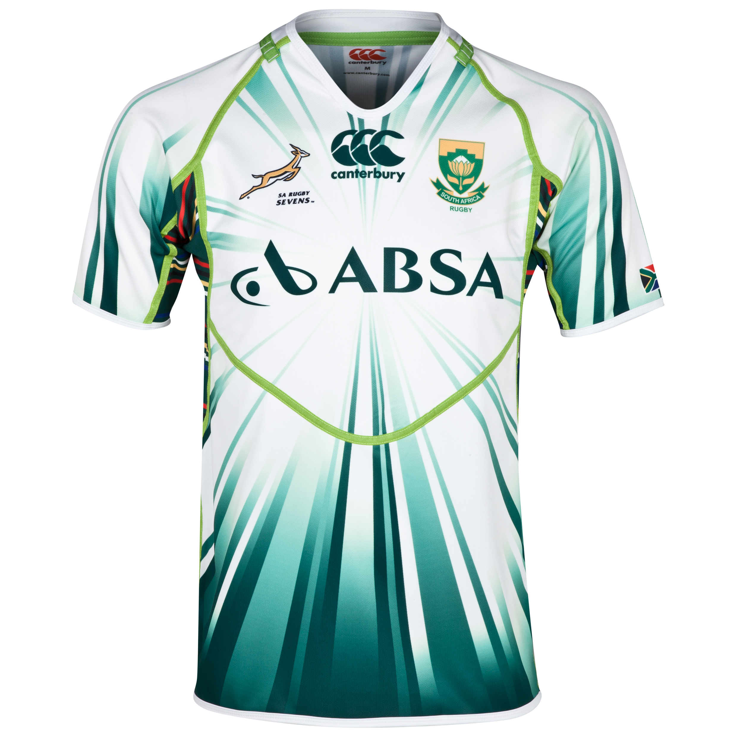 South Africa Springboks Alternate Sevens Rugby Pro Shirt 2013/14