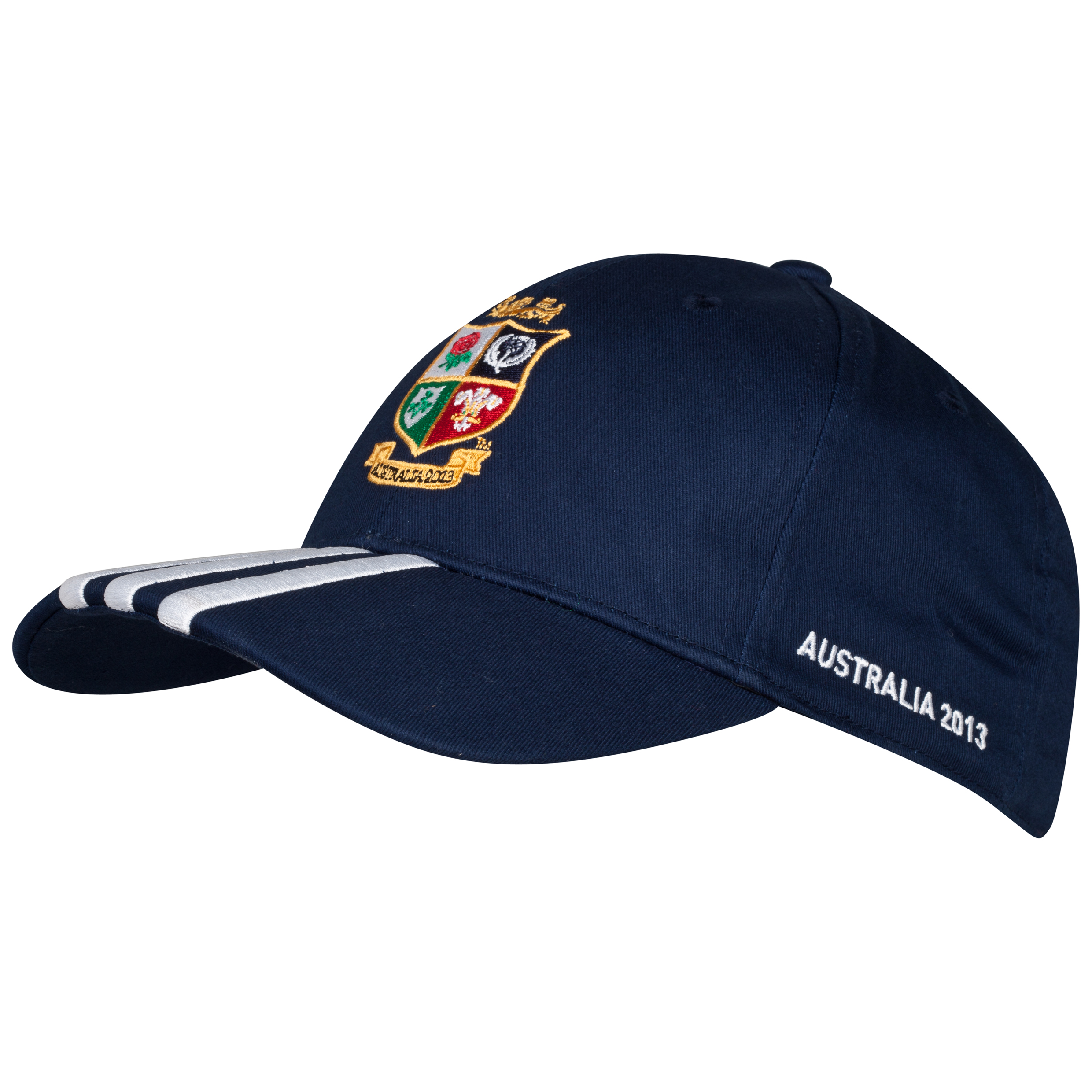 Adidas British and Irish Lions 3 Stripe Cap - Collegiate Navy/University Red