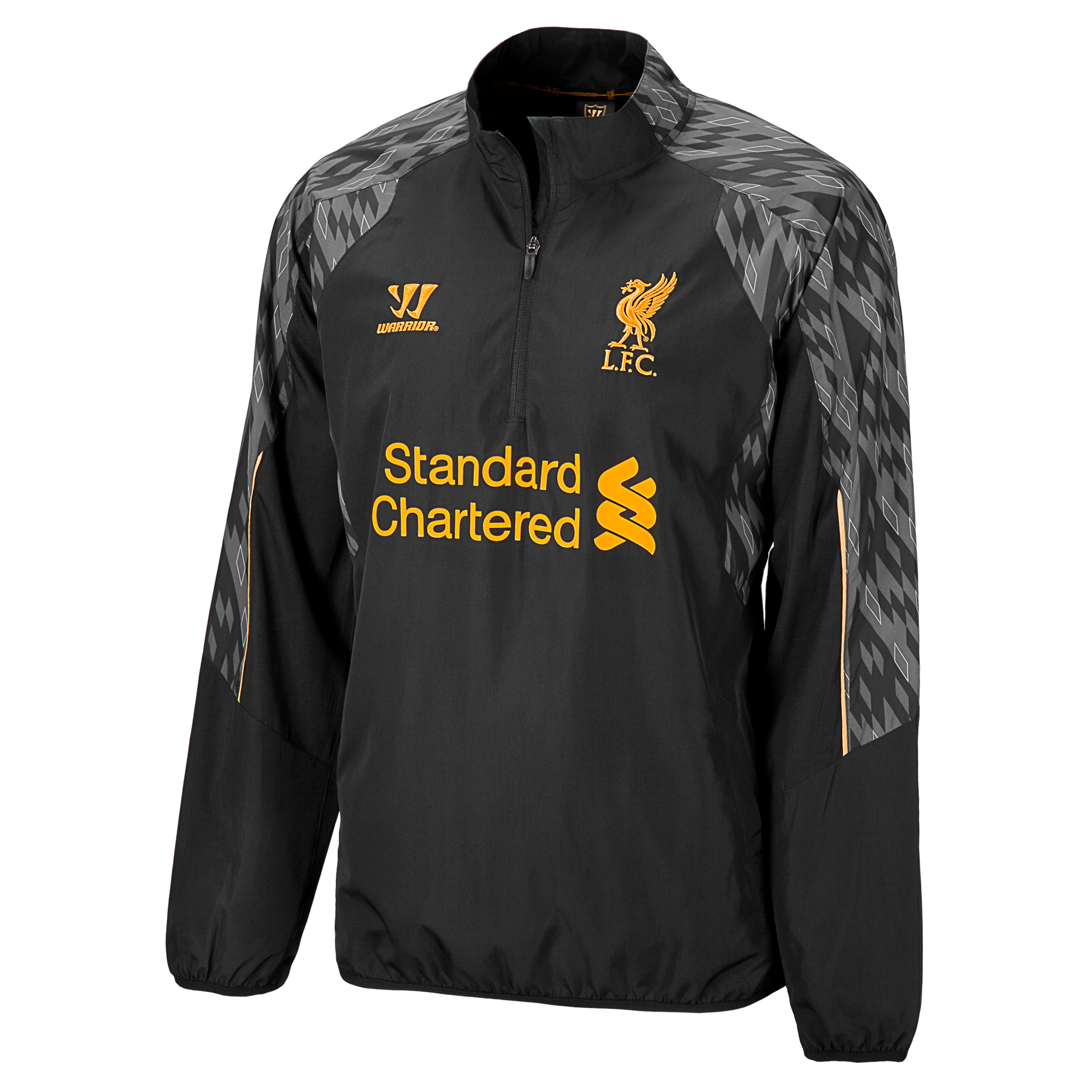 Liverpool 1/2 Zip Windbreaker Training Top - Anthracite/Silver Filigree