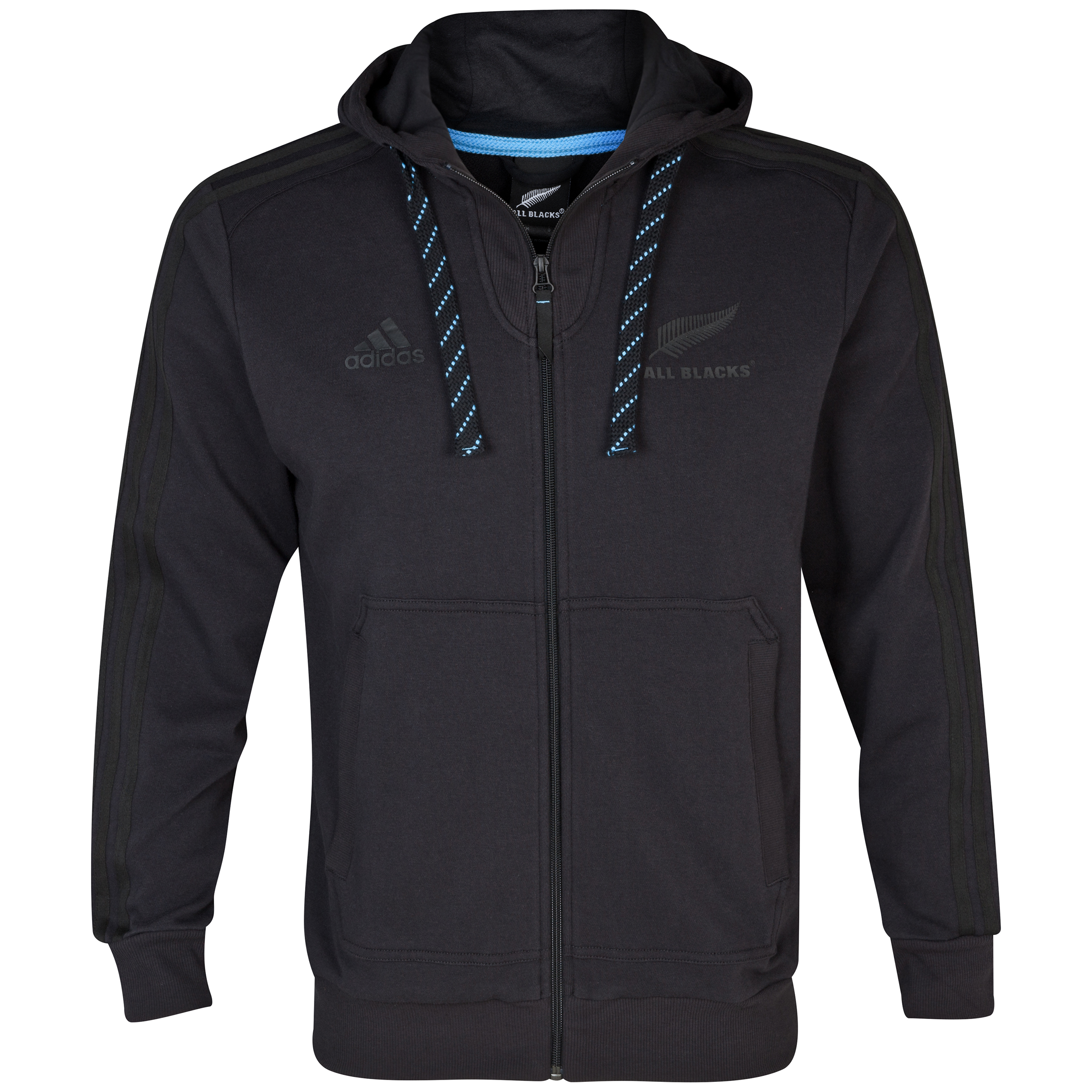 All Blacks Zip Hooded Top - Black