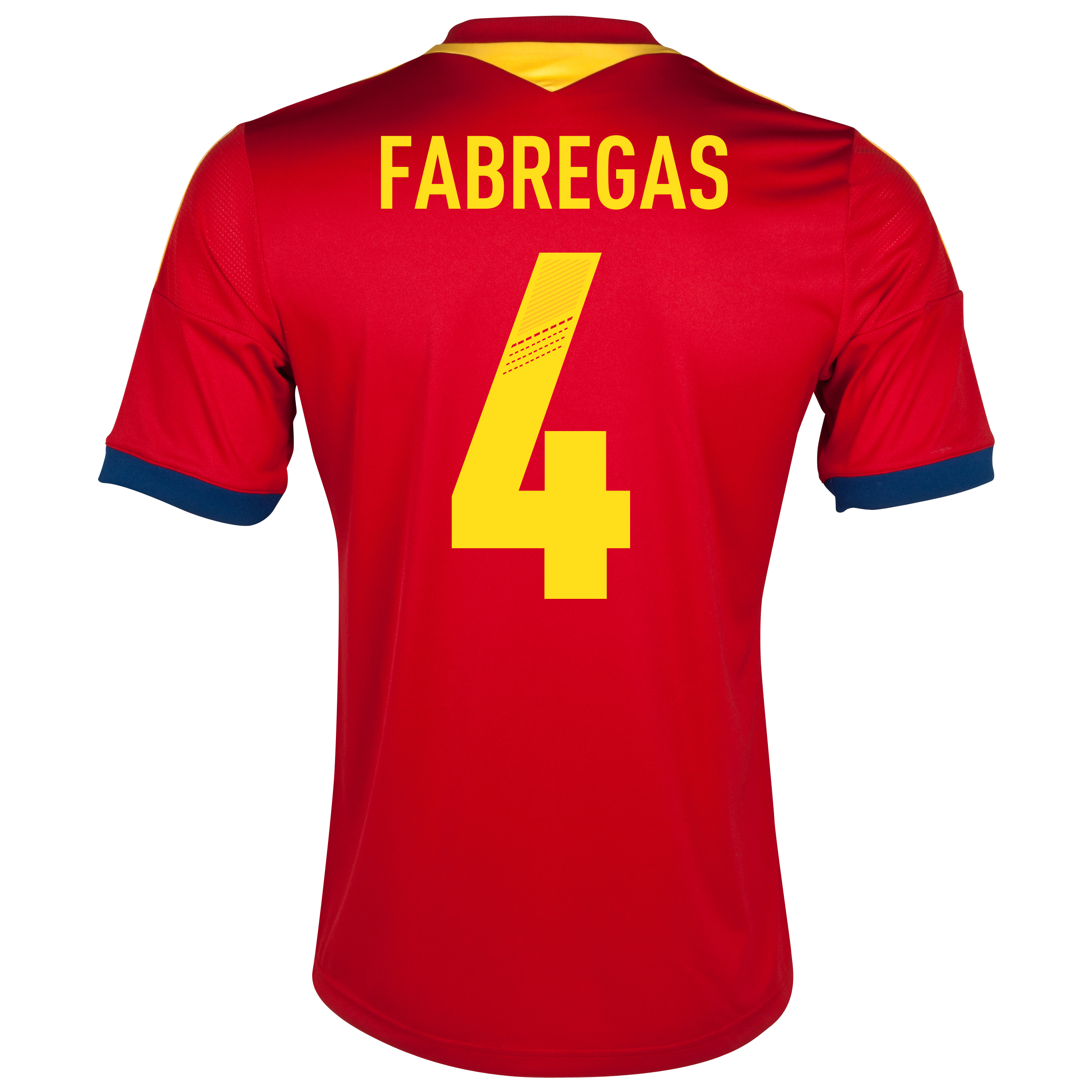 Spain Home Shirt 2013 with Fabregas 4 printing